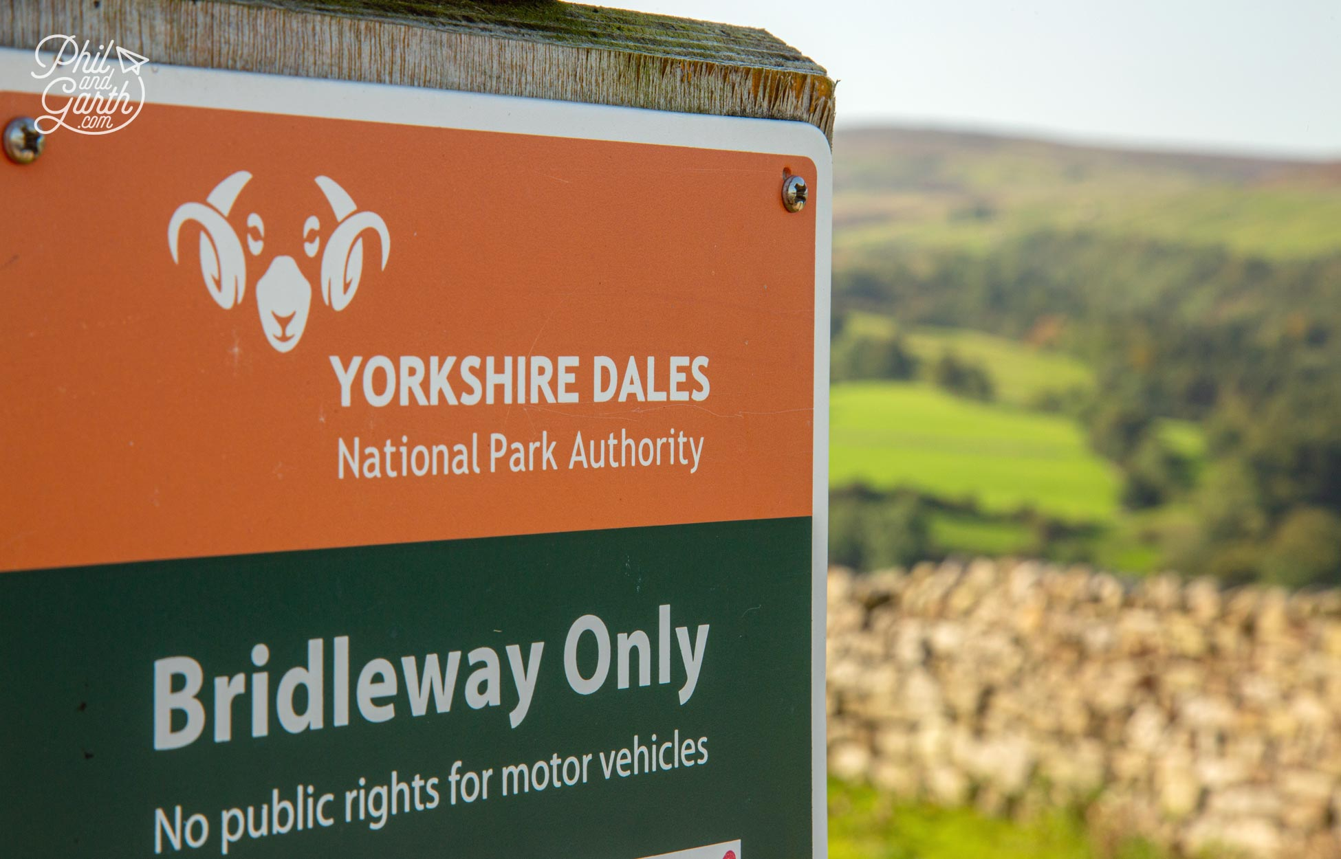 Swaledale sheep feature as the symbol of The Yorkshire Dales National Park