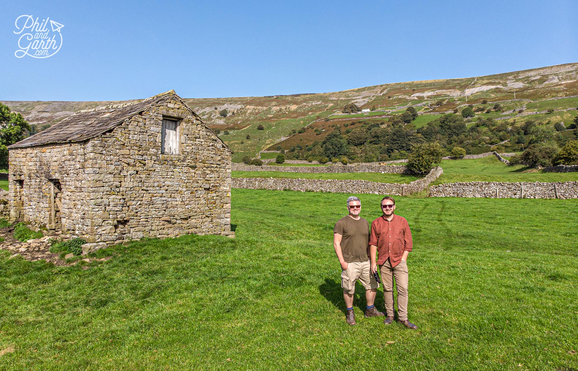 Phil and Garth in Reeth, Yorkshire Dales National Park