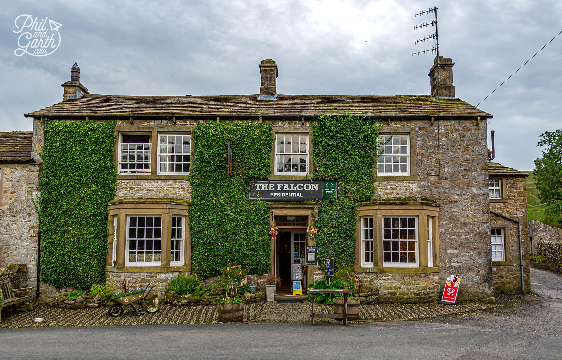 The Falcon pub in Arncliffe was the original Woolpack pub in Emmerdale