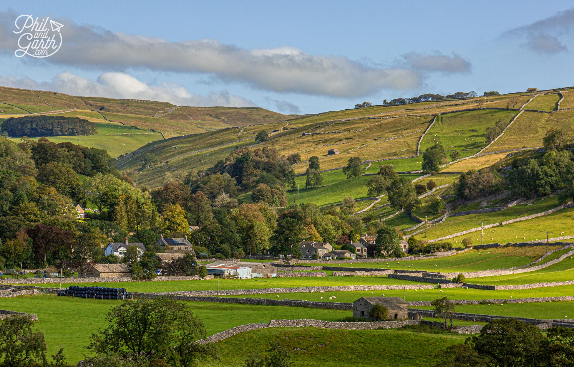 The glorious countryside of Wharfedale in the south of the Yorkshire Dales National Park