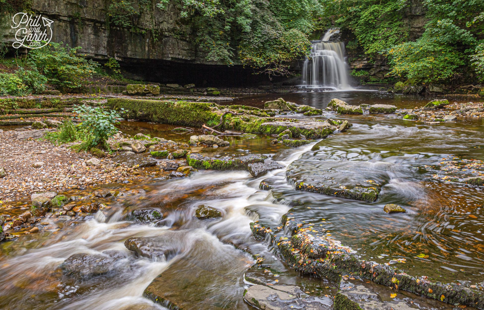 The pretty Cauldron Falls waterfall in West Burton