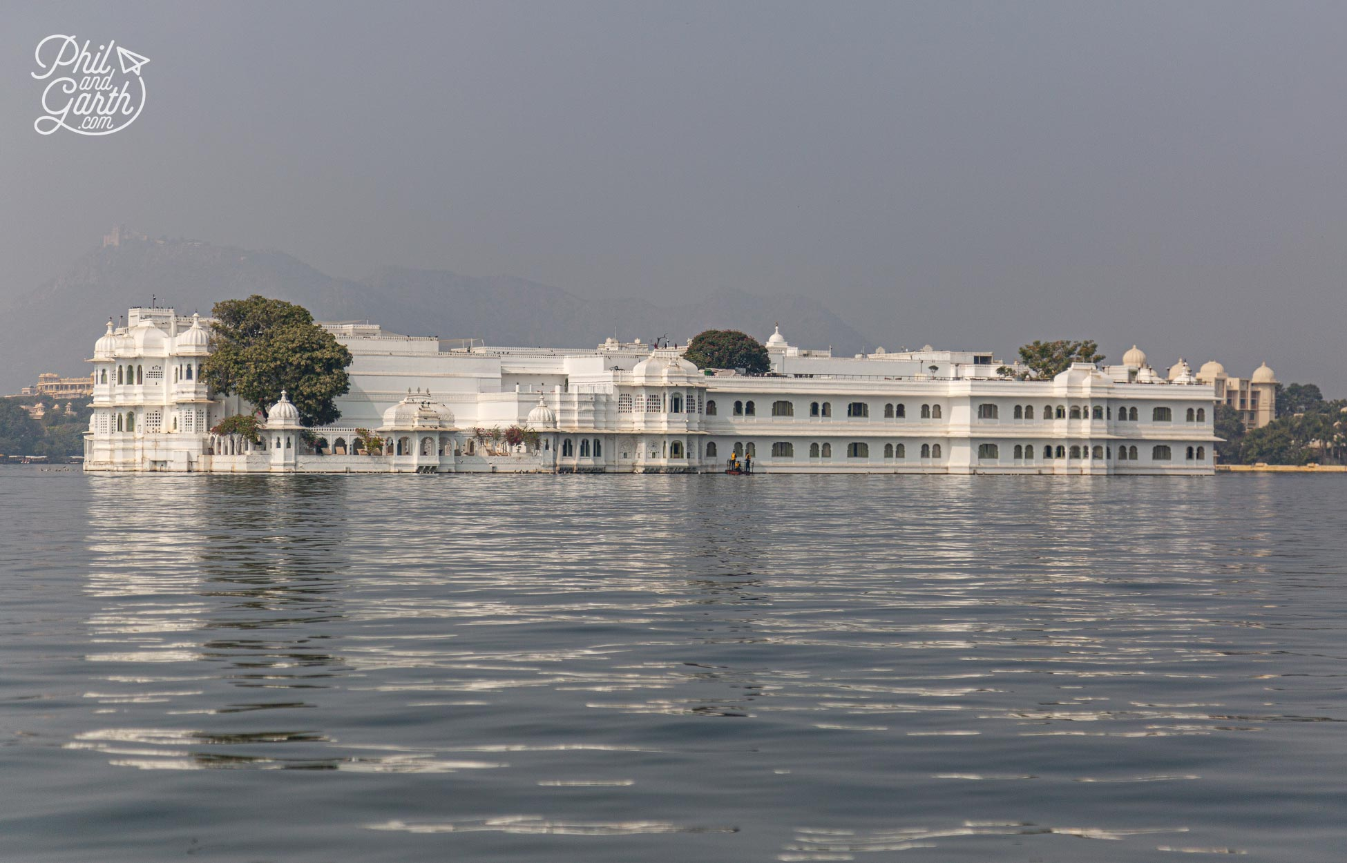 The stunning Taj Lake Palace luxury hotel. It was a former Royal palace Jag Niwas