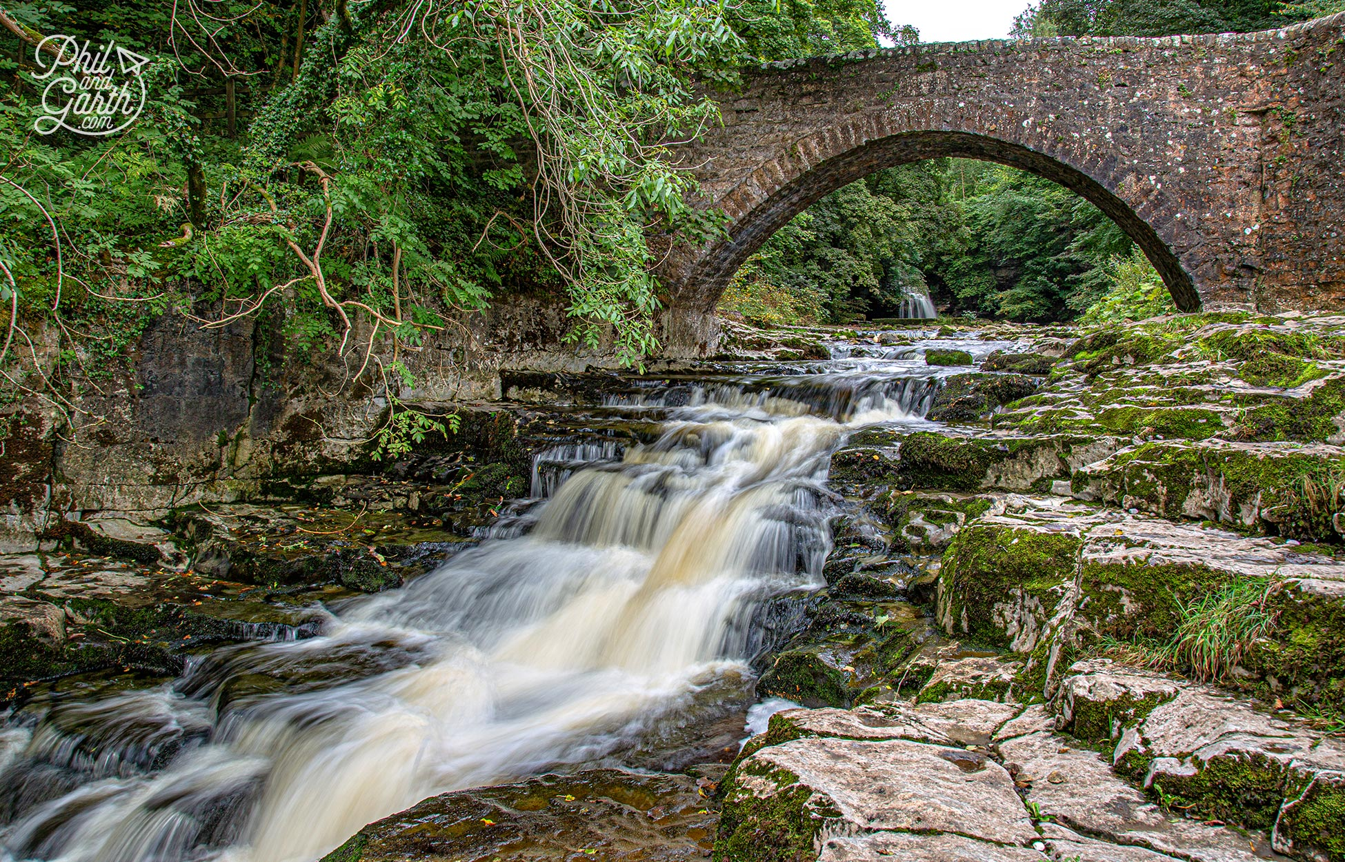 There's also a lovely stone bridge which you can use to frame the waterfall in the distance