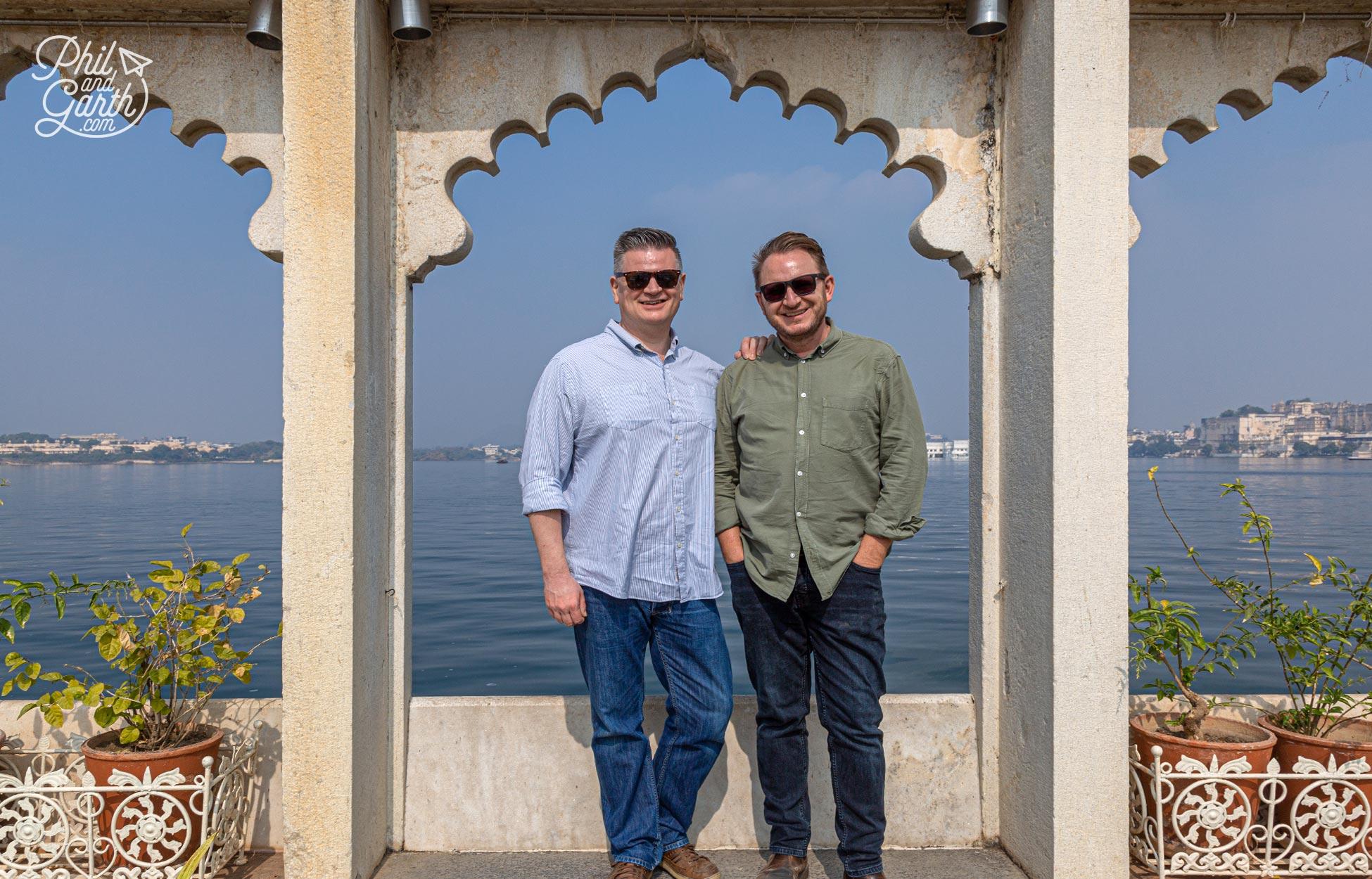 Phil and Garth at the Jagmandir Palace