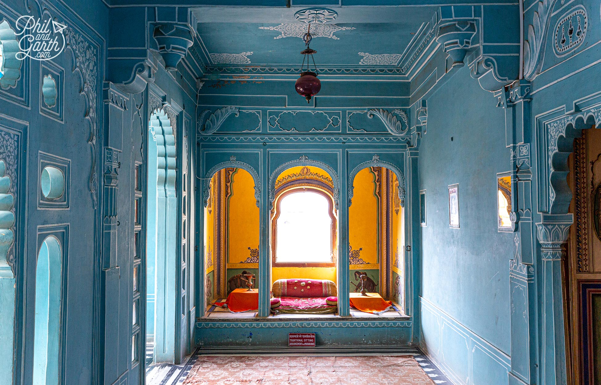 A blue room of the Queens chamber, part of the Zenana Mahal - the Queens Palace built in 1620