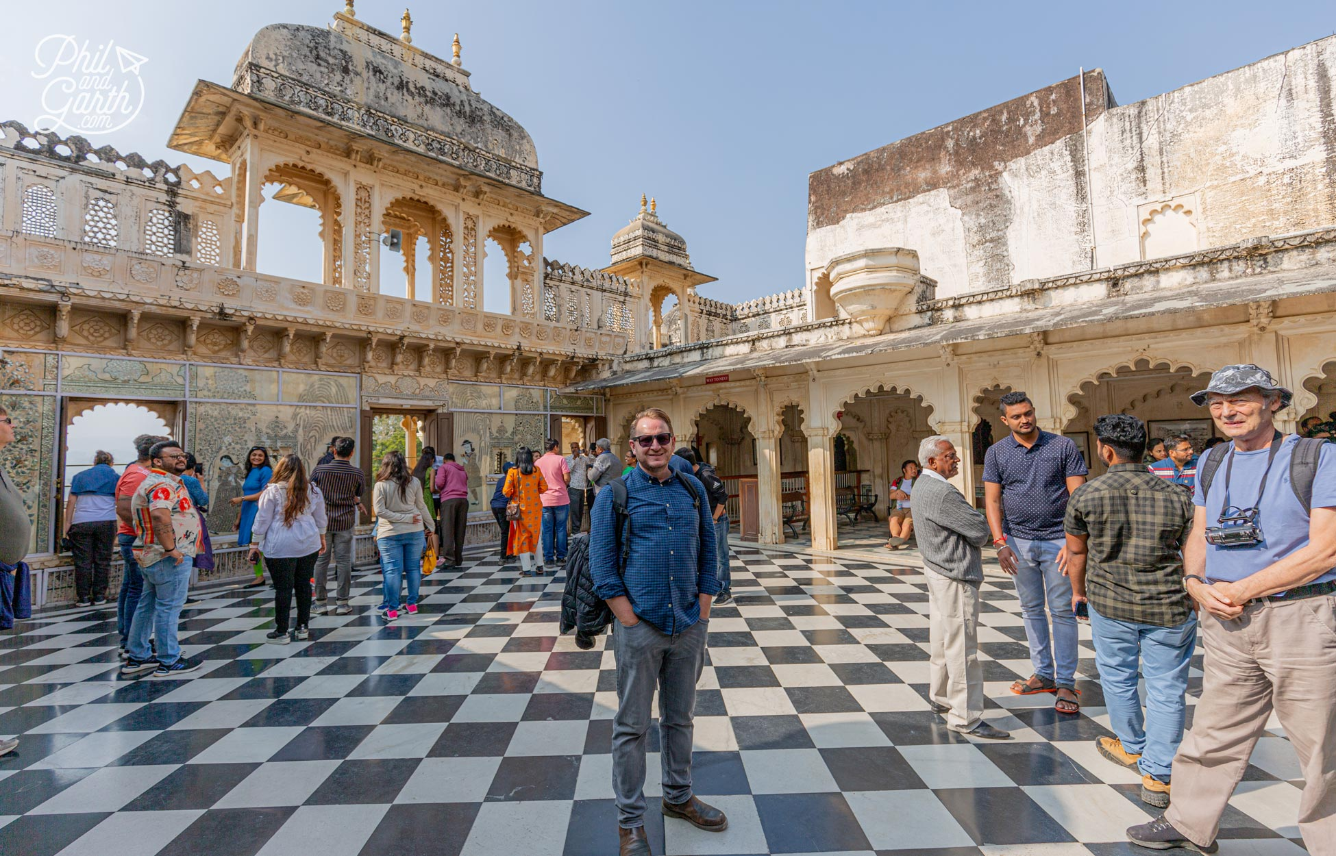 Garth in the Badi Charur Chowk palace courtyard. This area was used for music and dance