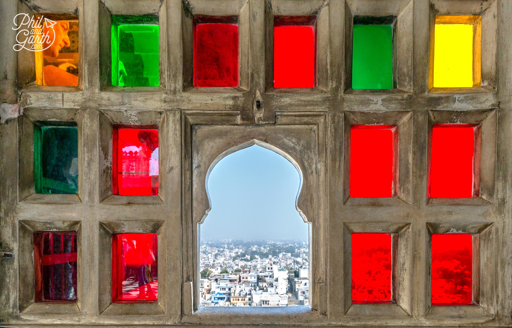 Our favourite window in Badi Charur Chowk looking out over Udaipur