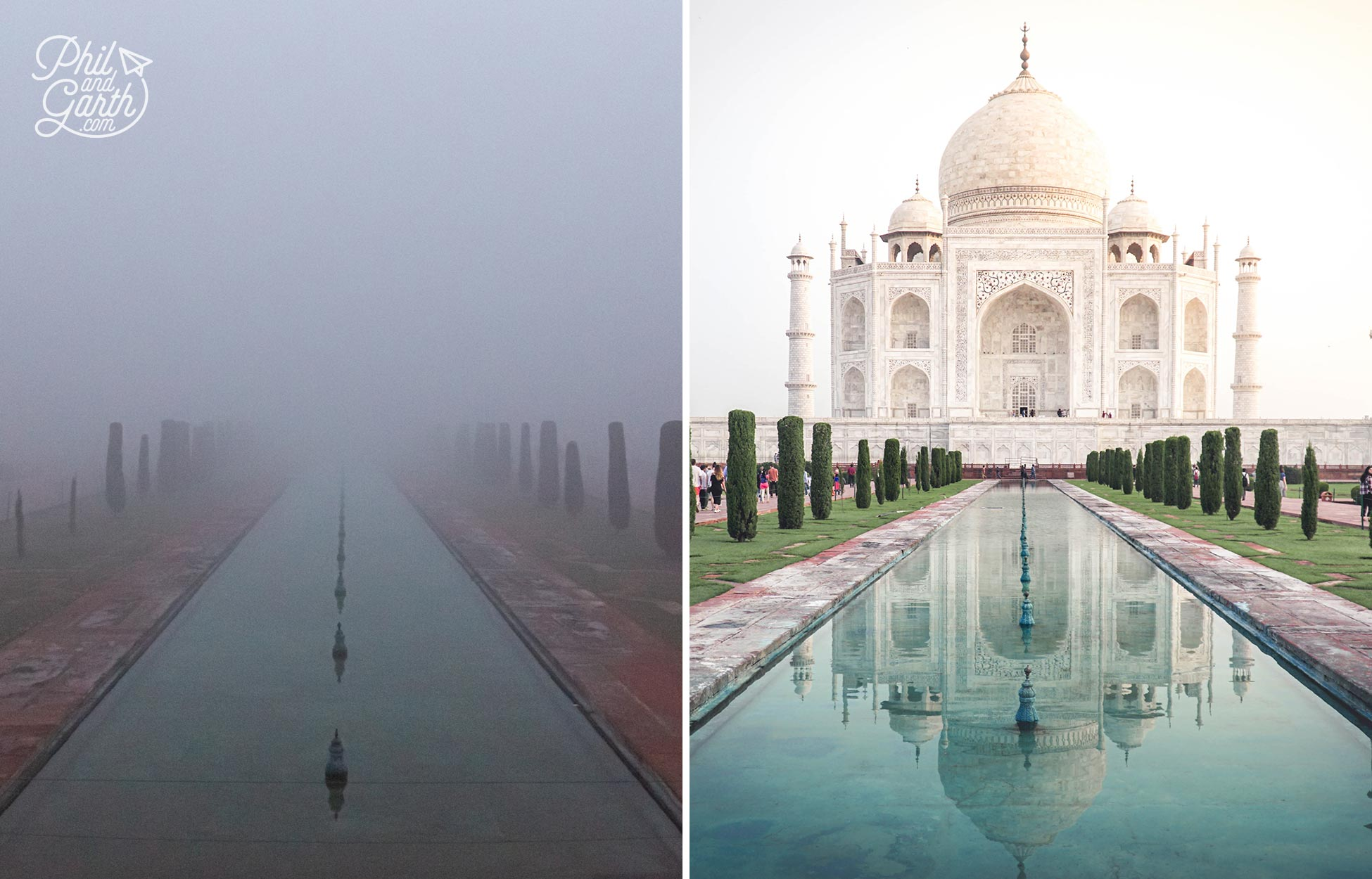 Our view of the Taj Mahal from the North gate ... and what we should have seen!