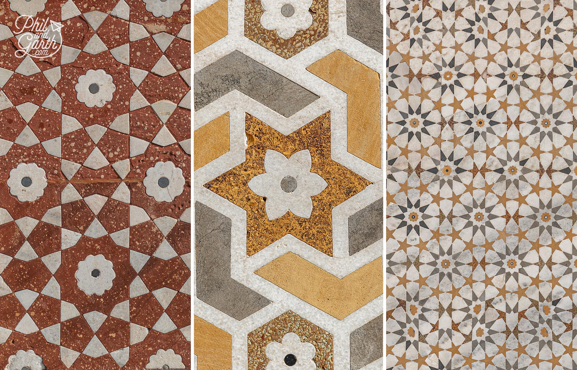 Gorgeous tile patterns and symmetry of the 'Baby Taj Mahal'