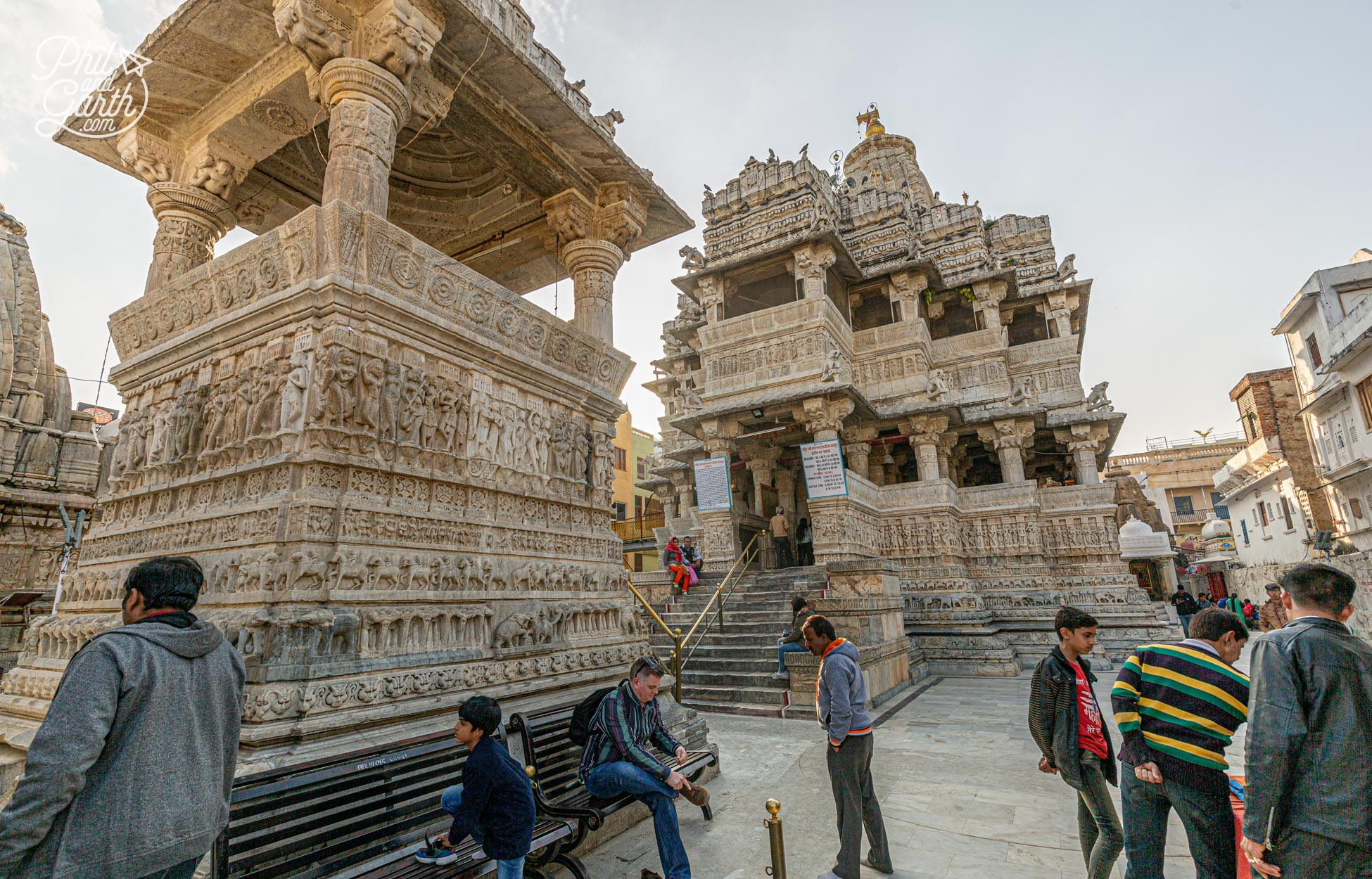 The Jagdish Temple was built in 1651