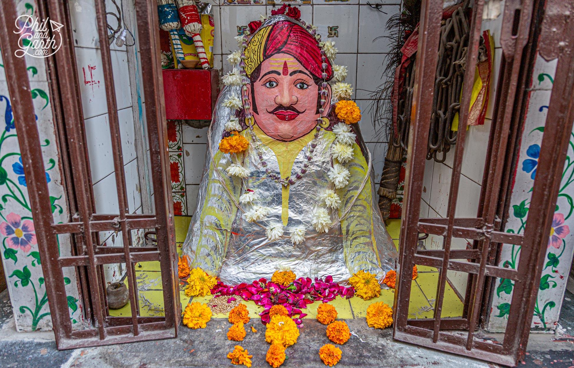 We came across many small hindu shrines in doorways