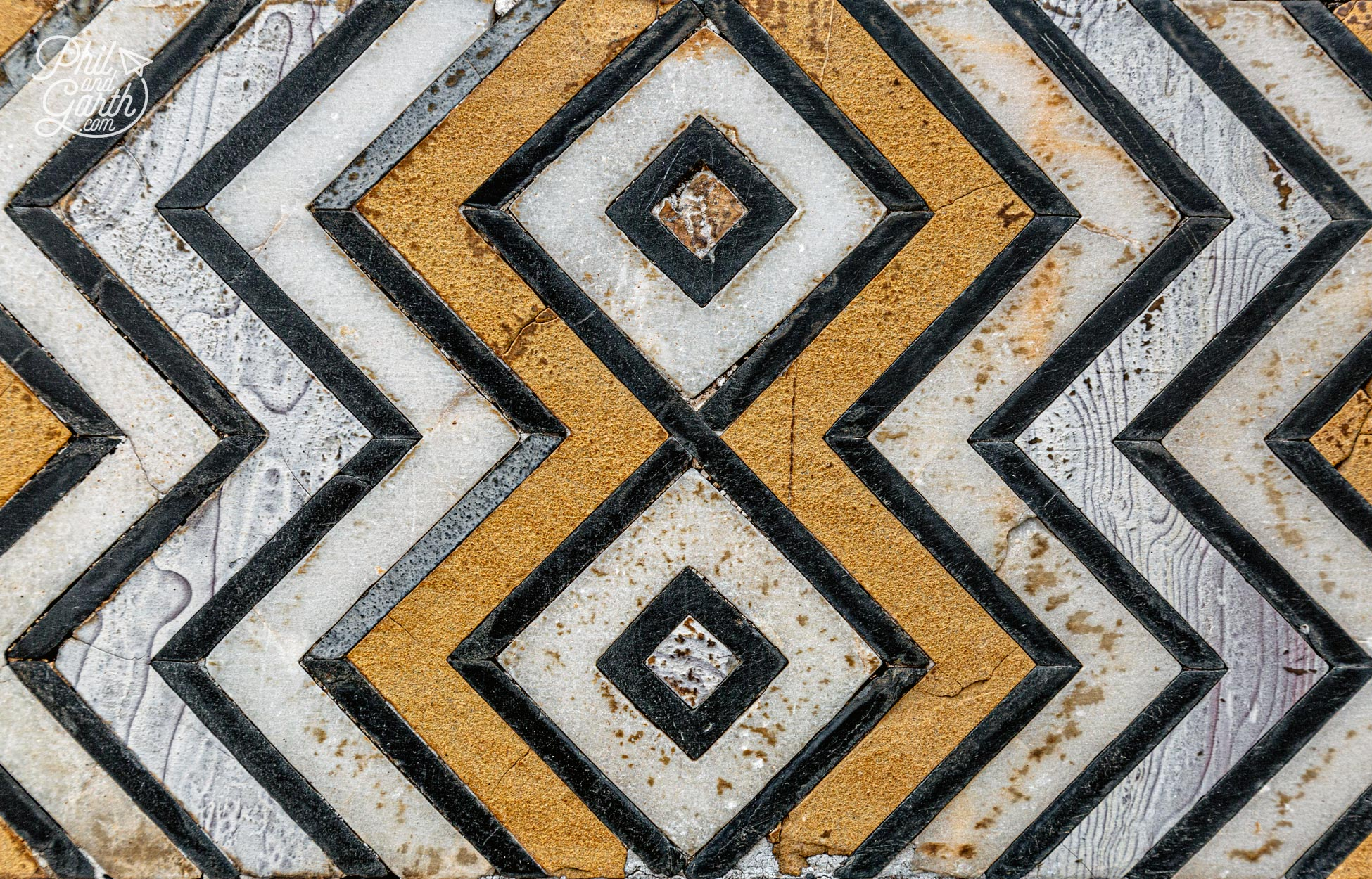 Bold and contemporary looking pattens made of precious stone