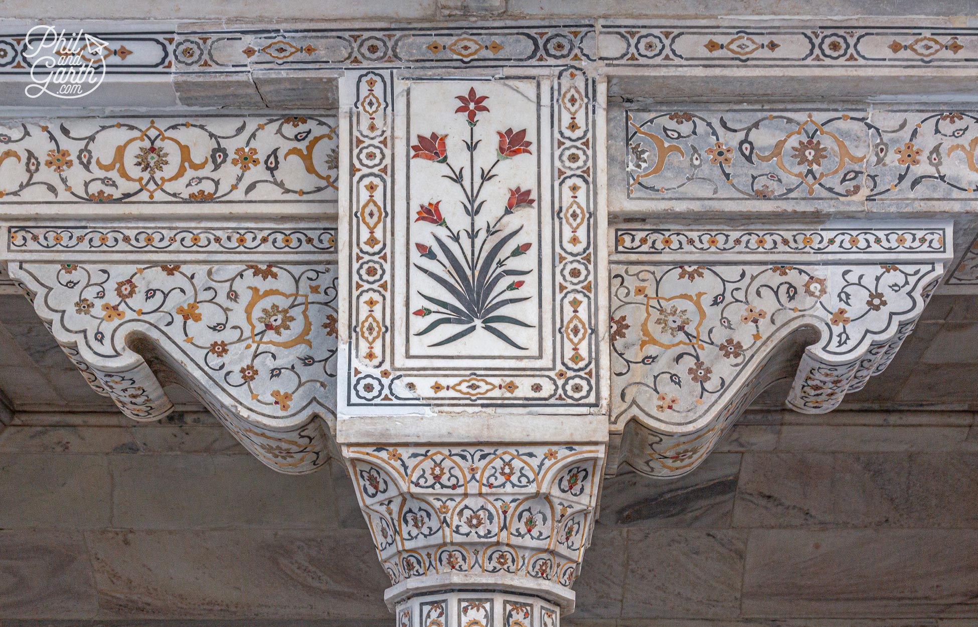Emperor Shah Jahan's signature design style used in the Khas Mahal Palace