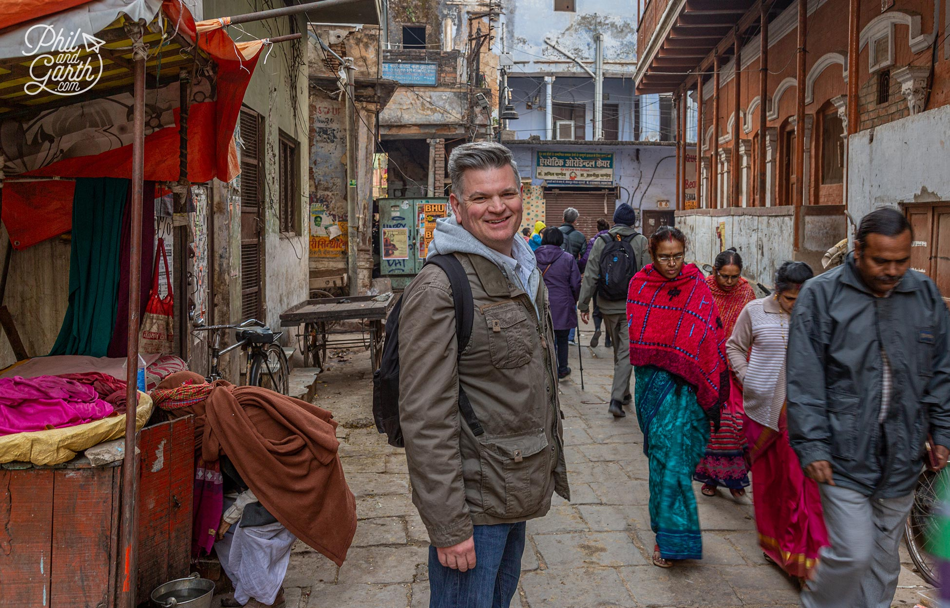 The back and side streets of Varanasi are fascinating to wander around