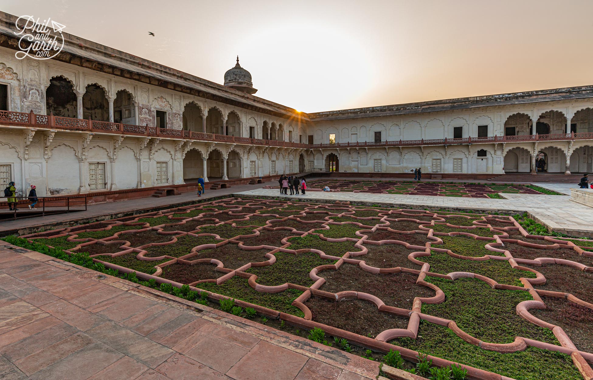 The jigsaw puzzle like patterns of Anguri Bagh - The grape garden