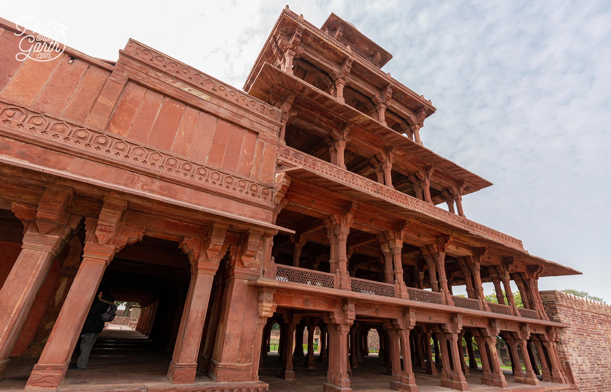 The Panch Mahal - a 5 storey palace for the Queens and other ladies of the court to use for recreation