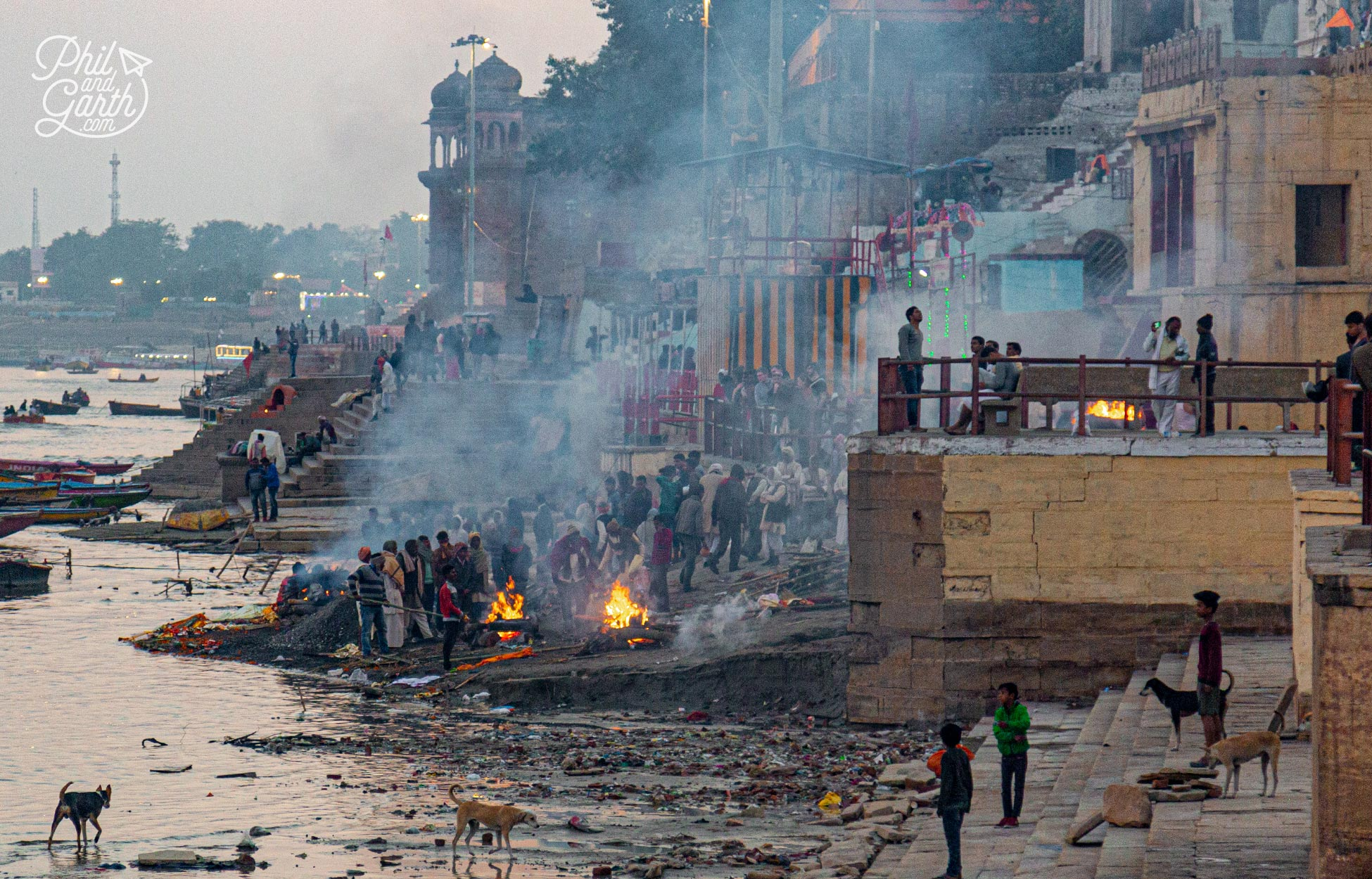 Harishchandra Ghat the second site for cremations by the River Ganges