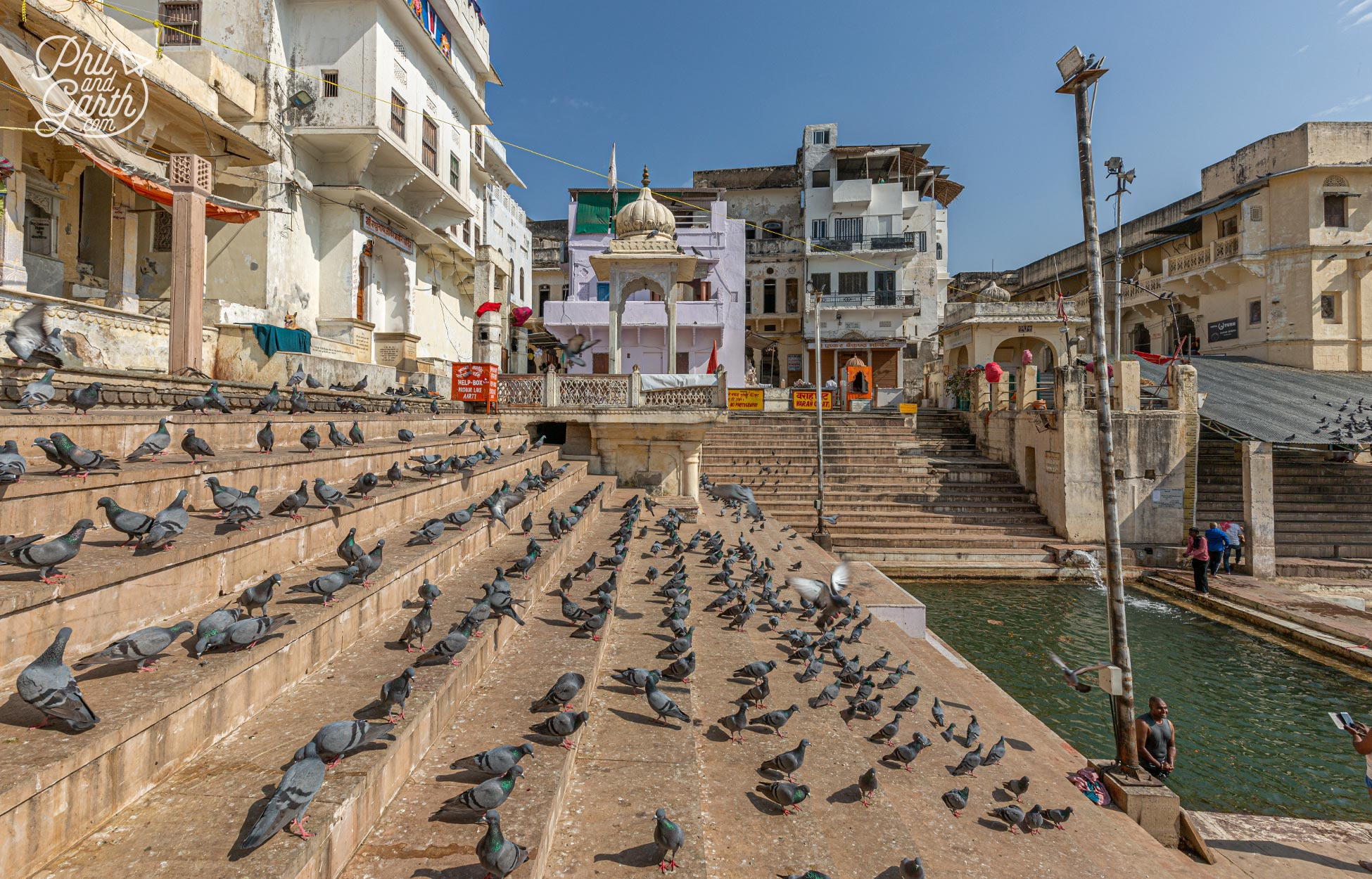 Just one of the many ghats (steps) in Pushkar