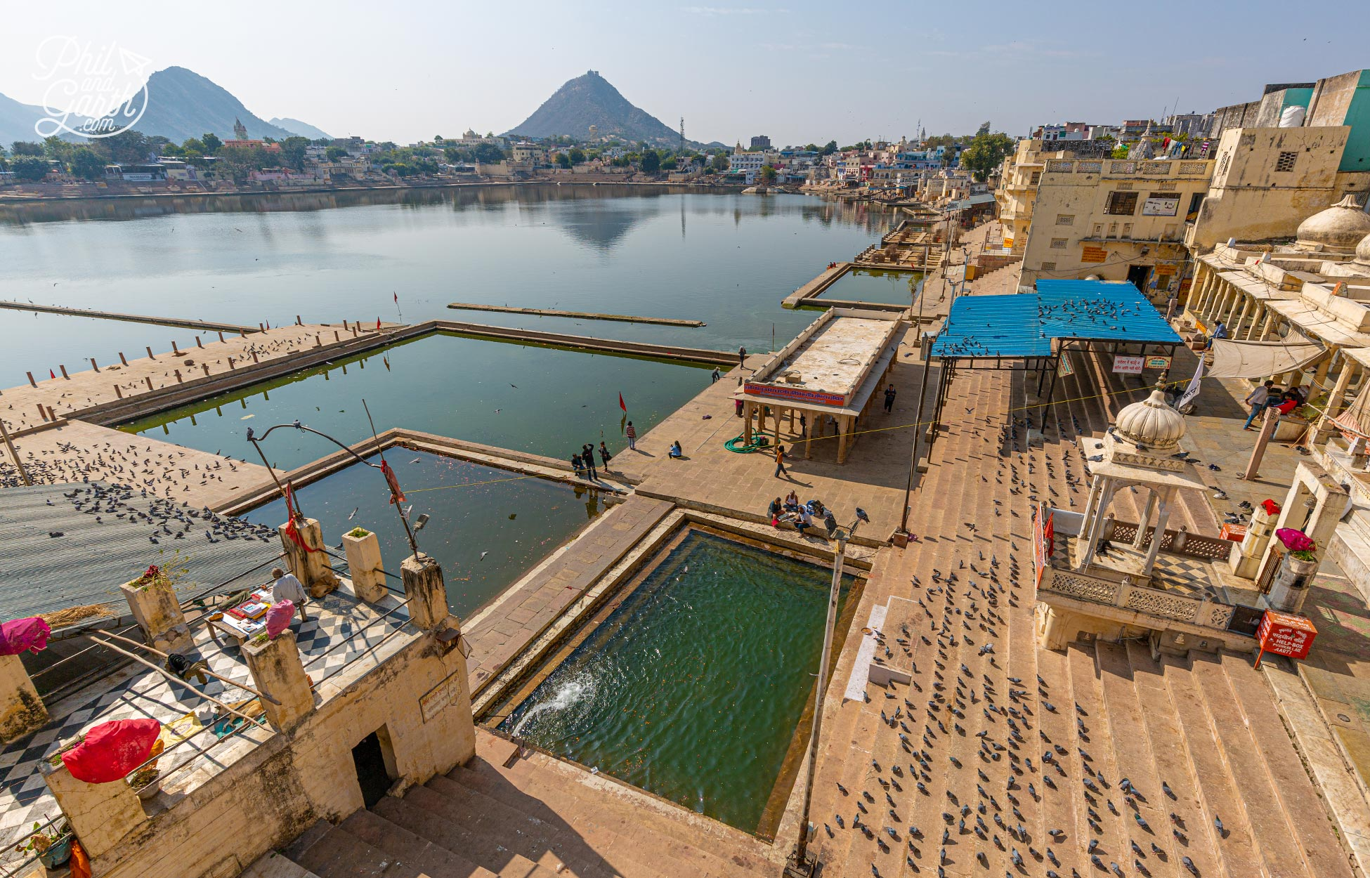 Places to visit in Pushkar, India. Lake Pushkar is considered to be sacred by Hindus