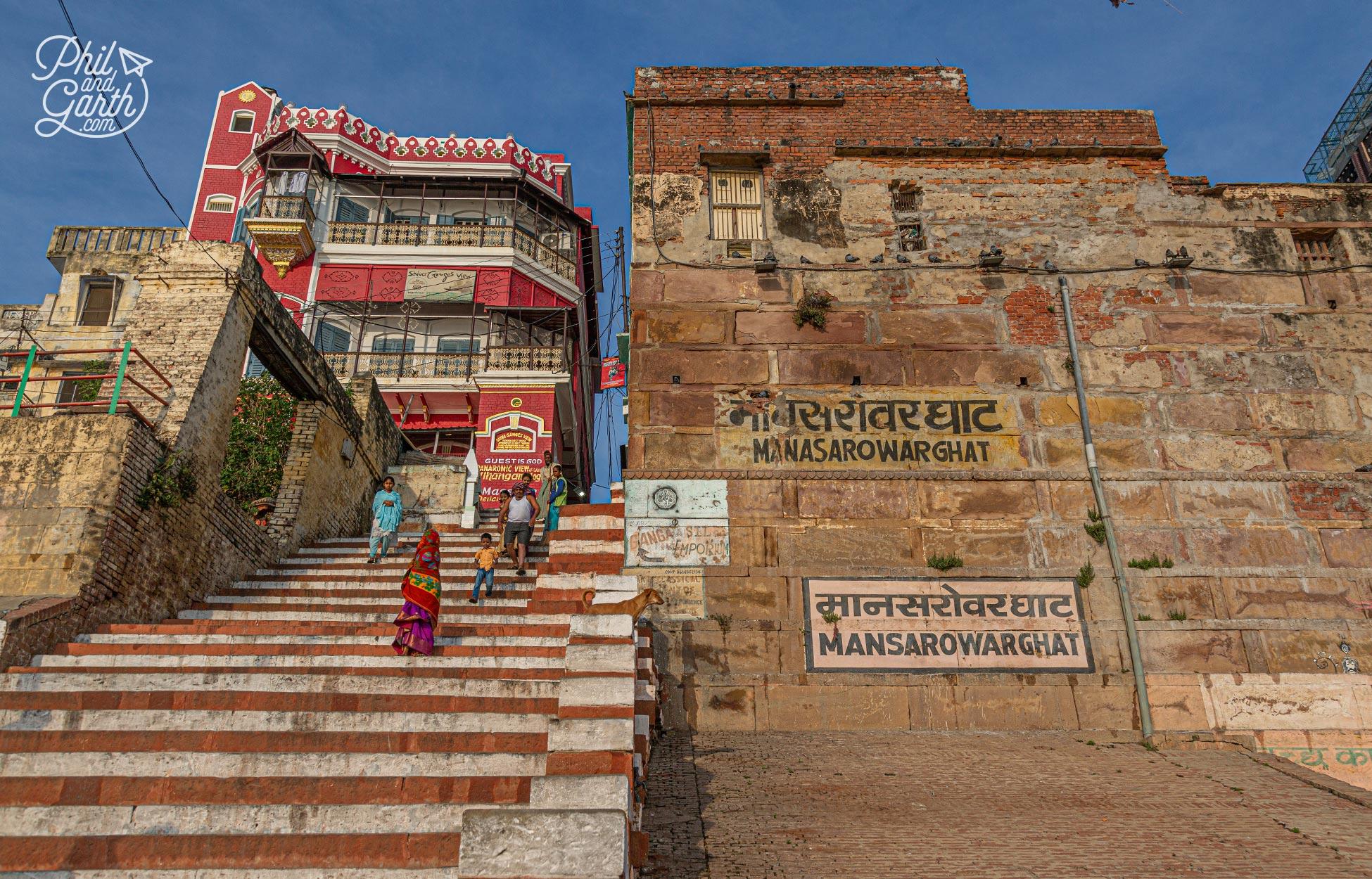 The steps of Mansarover Ghat