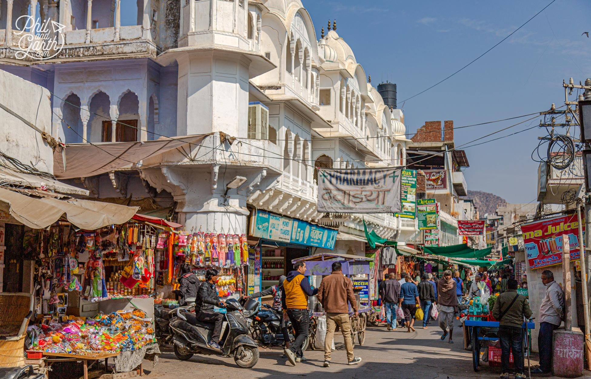 One of Pushkar's many bazaars, one of the best places to visit in Pushkar