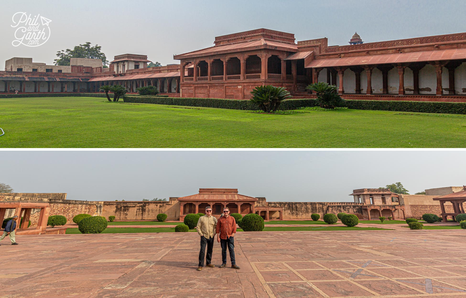 Phil and Garth at Fatehpur Sikri