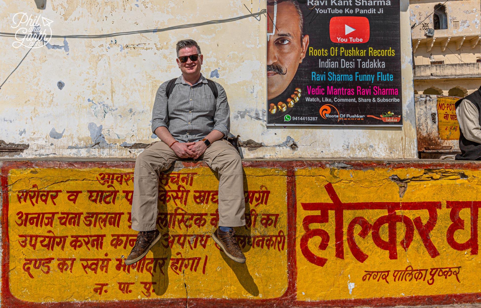 Phil at Holkar Ghat