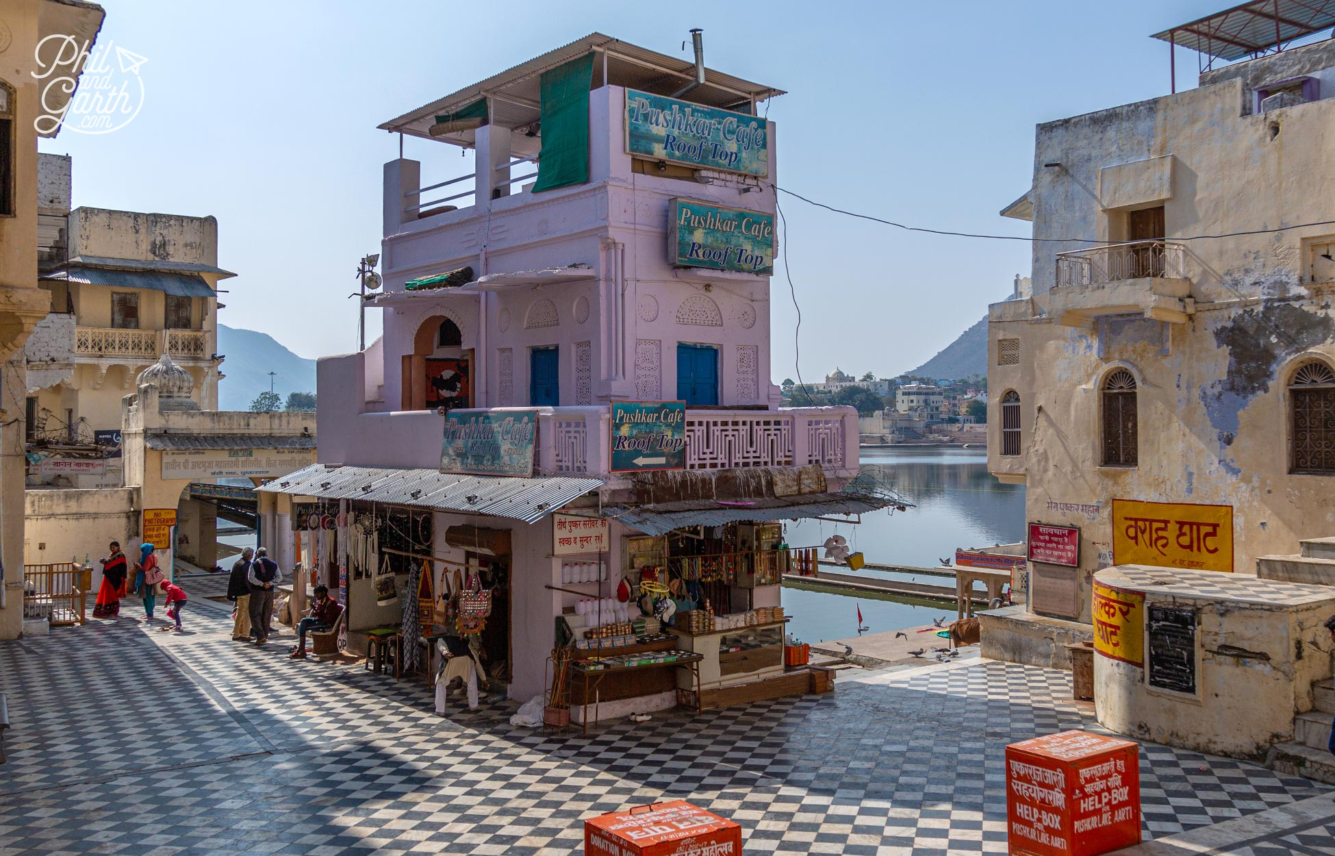 Places to visit in Pushkar - The Pushkar Cafe Roof Top - a great spot for lunch and photos