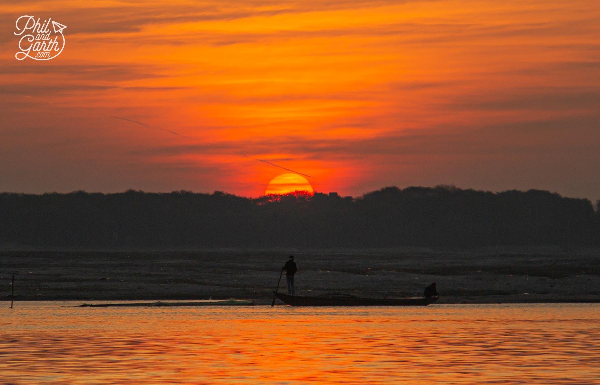 Daybreak over the River Ganges