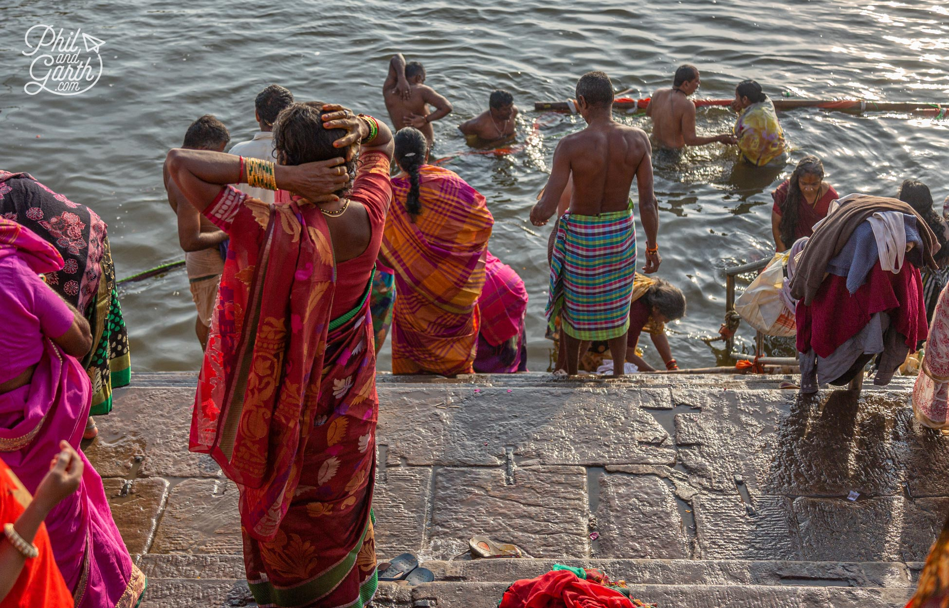 Religious rituals and bathing is a common sight everyday in Varanasi