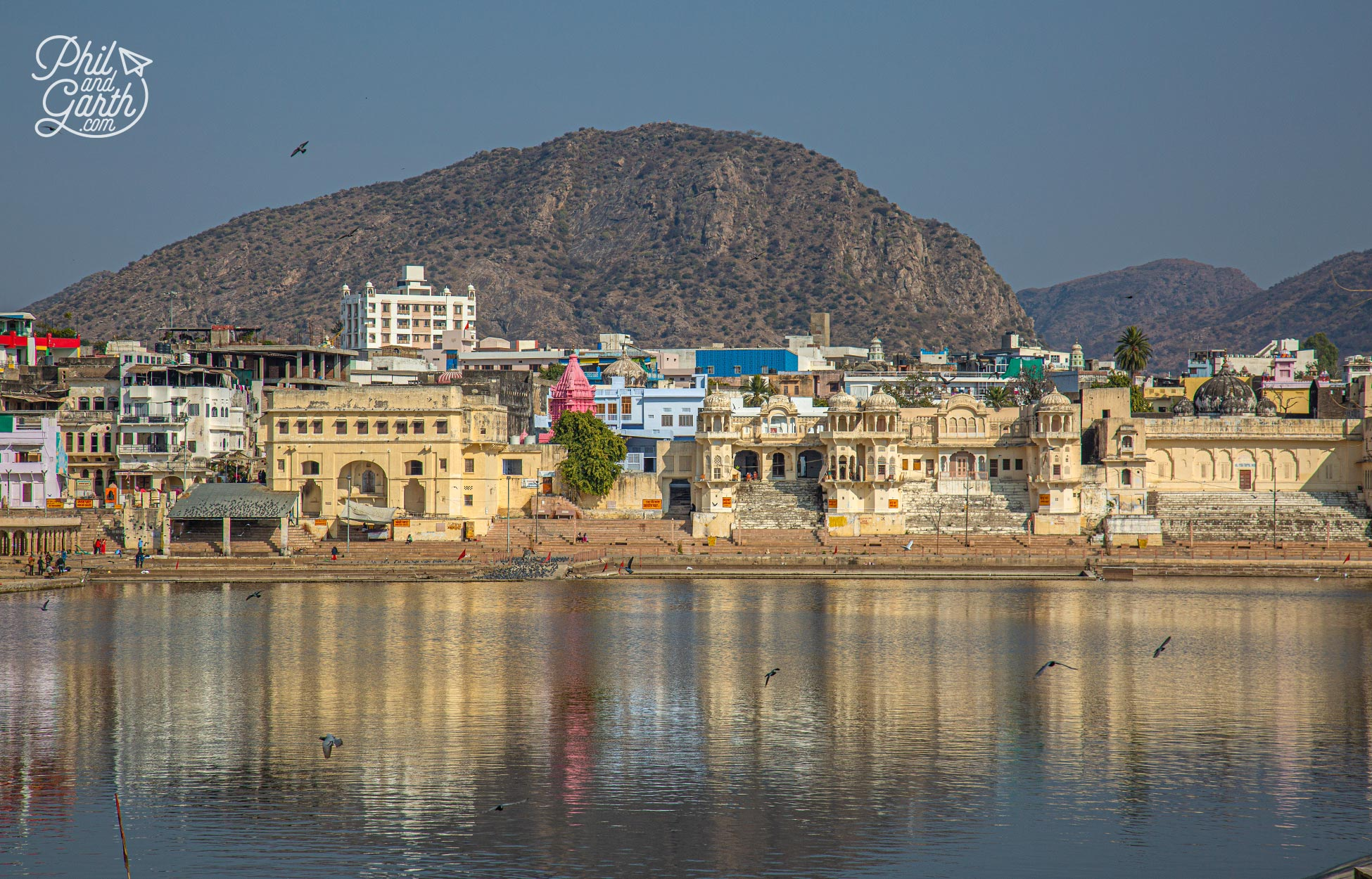 There's over 500 small temples surrounding Pushkar Lake. Some made of white marble or painted blue