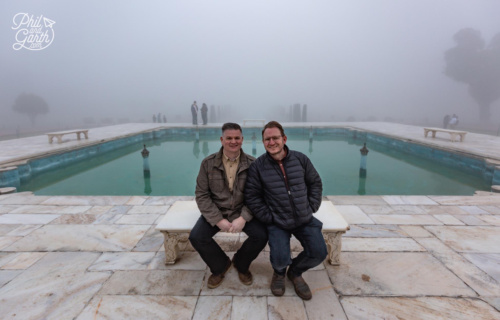 The 'Diana' bench at the Taj Mahal