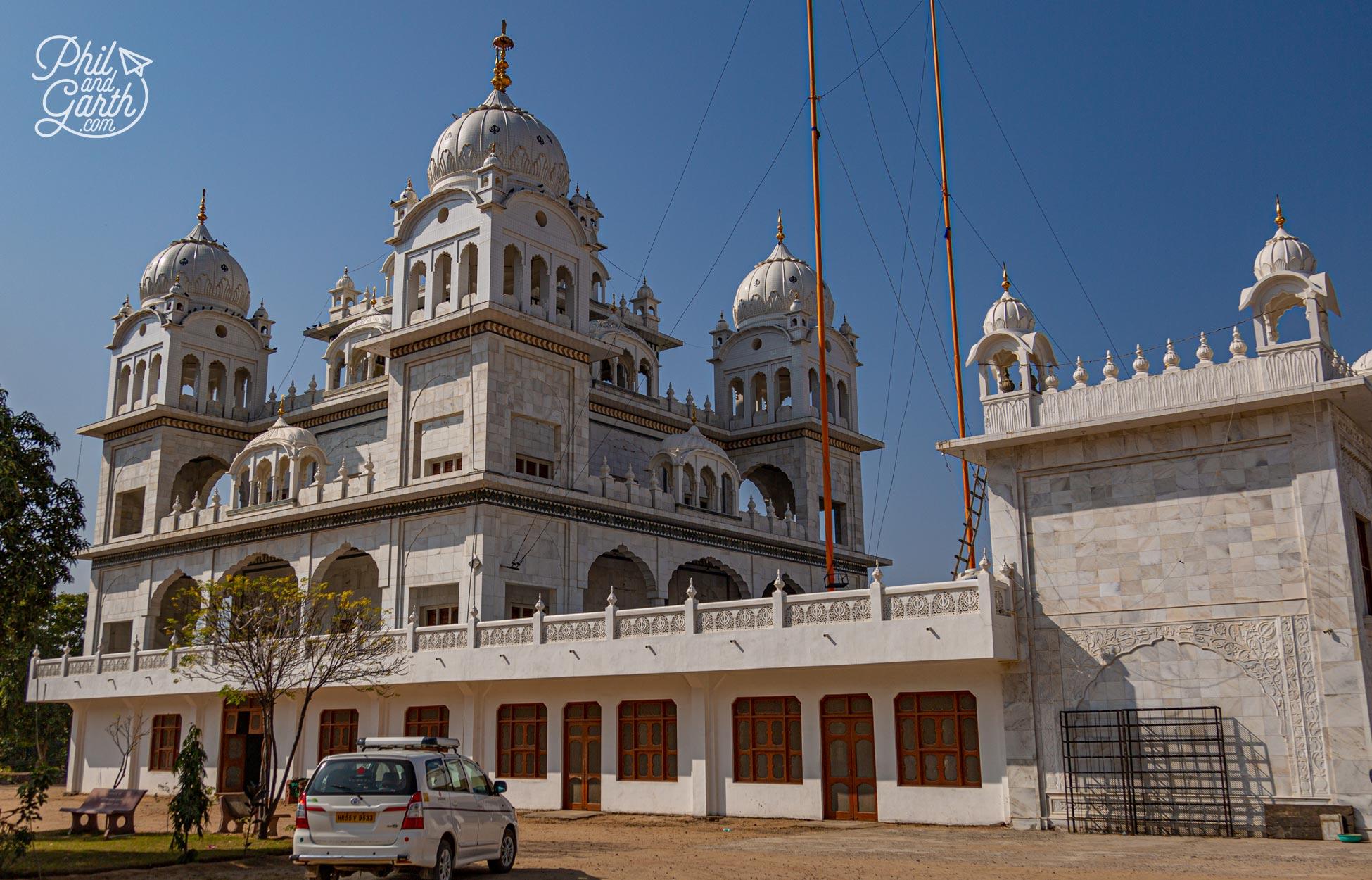 The Gurudwara Singh Sabha, a grand Sikh temple
