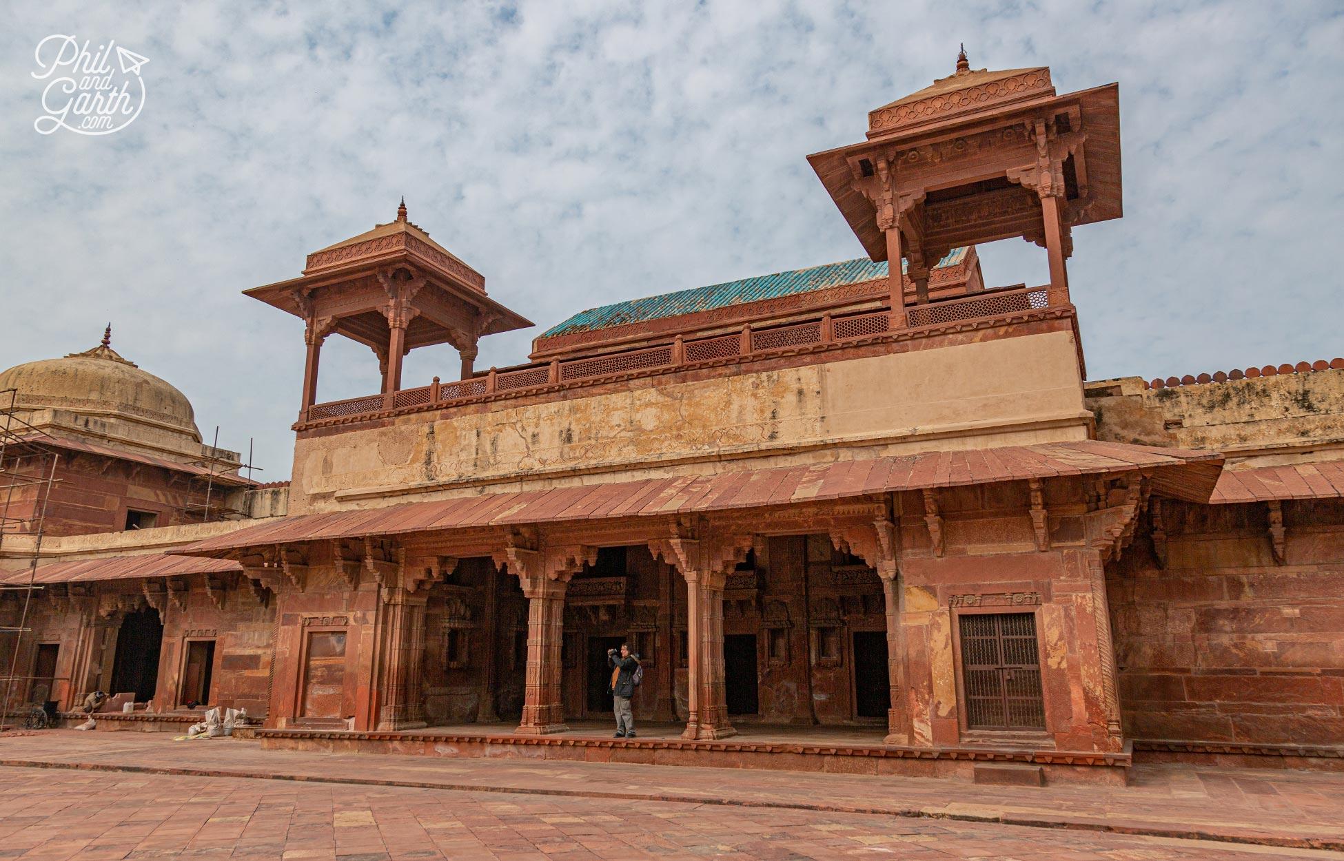 The Jodha Bai Palace built for the Emperor's favourite wife Jodha Bai