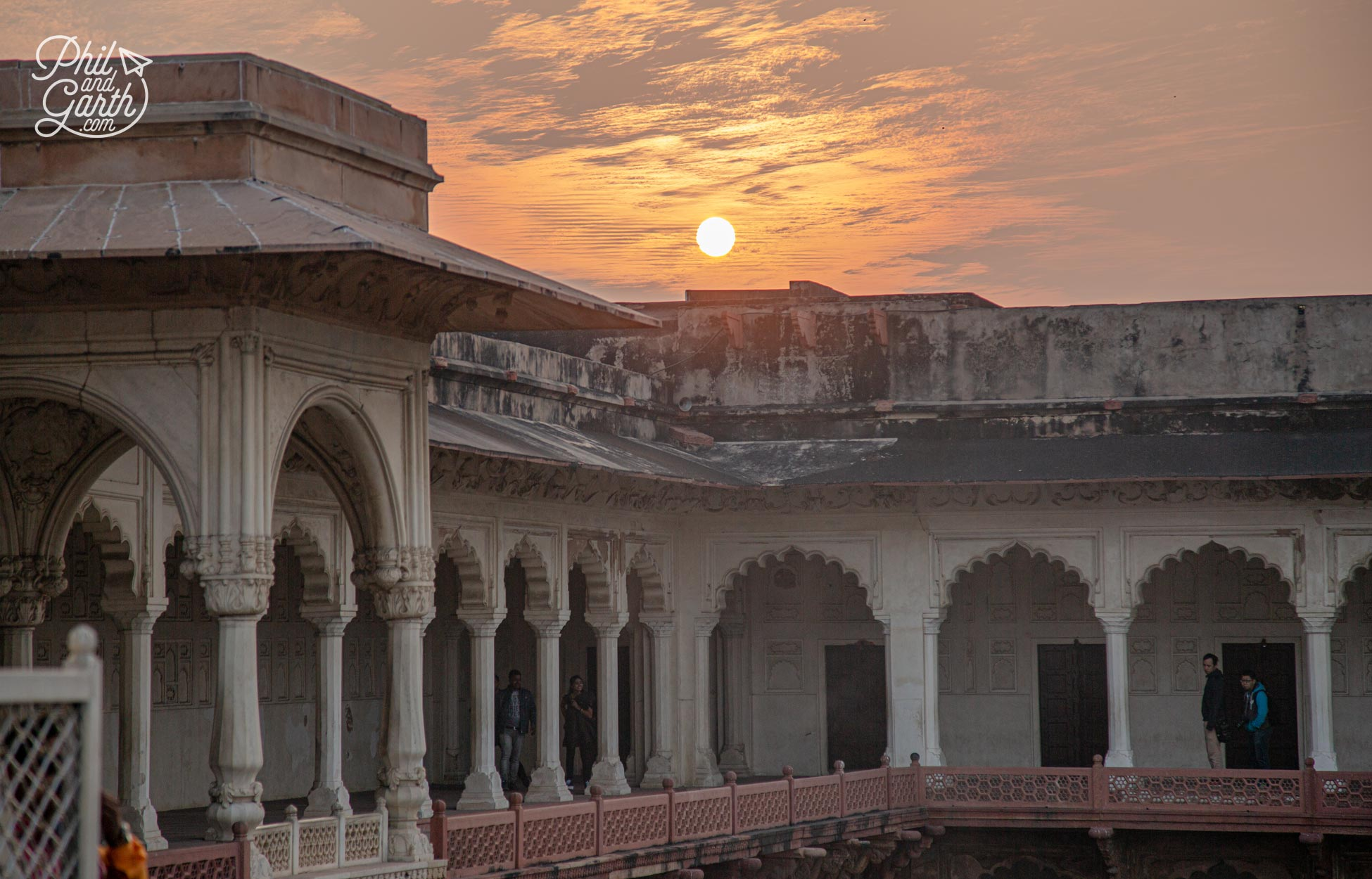 The arched galleries of Macchi Bhawan