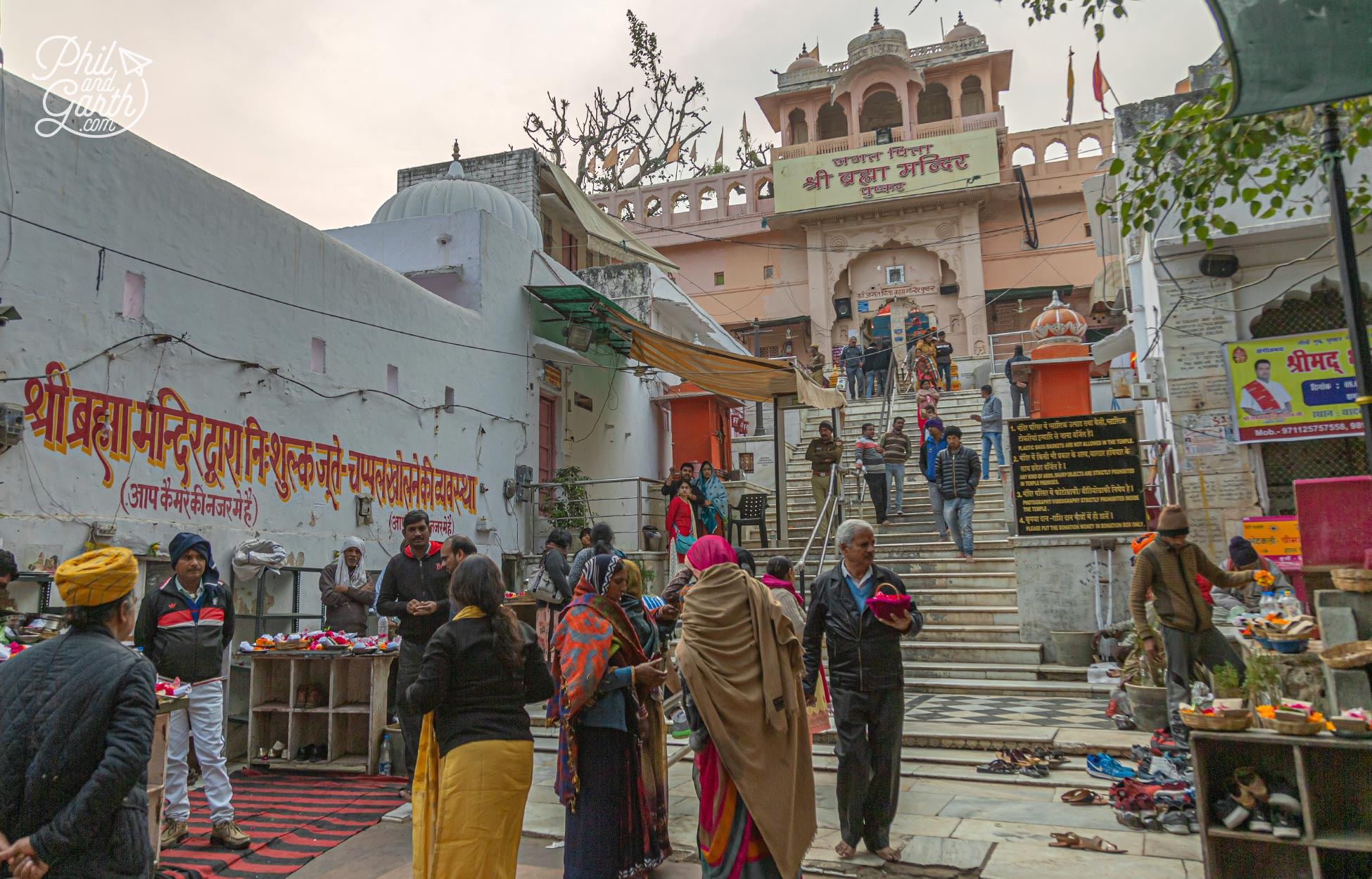 Entrance to the 14th century Brahma Temple - the must see place to visit in Pushkar