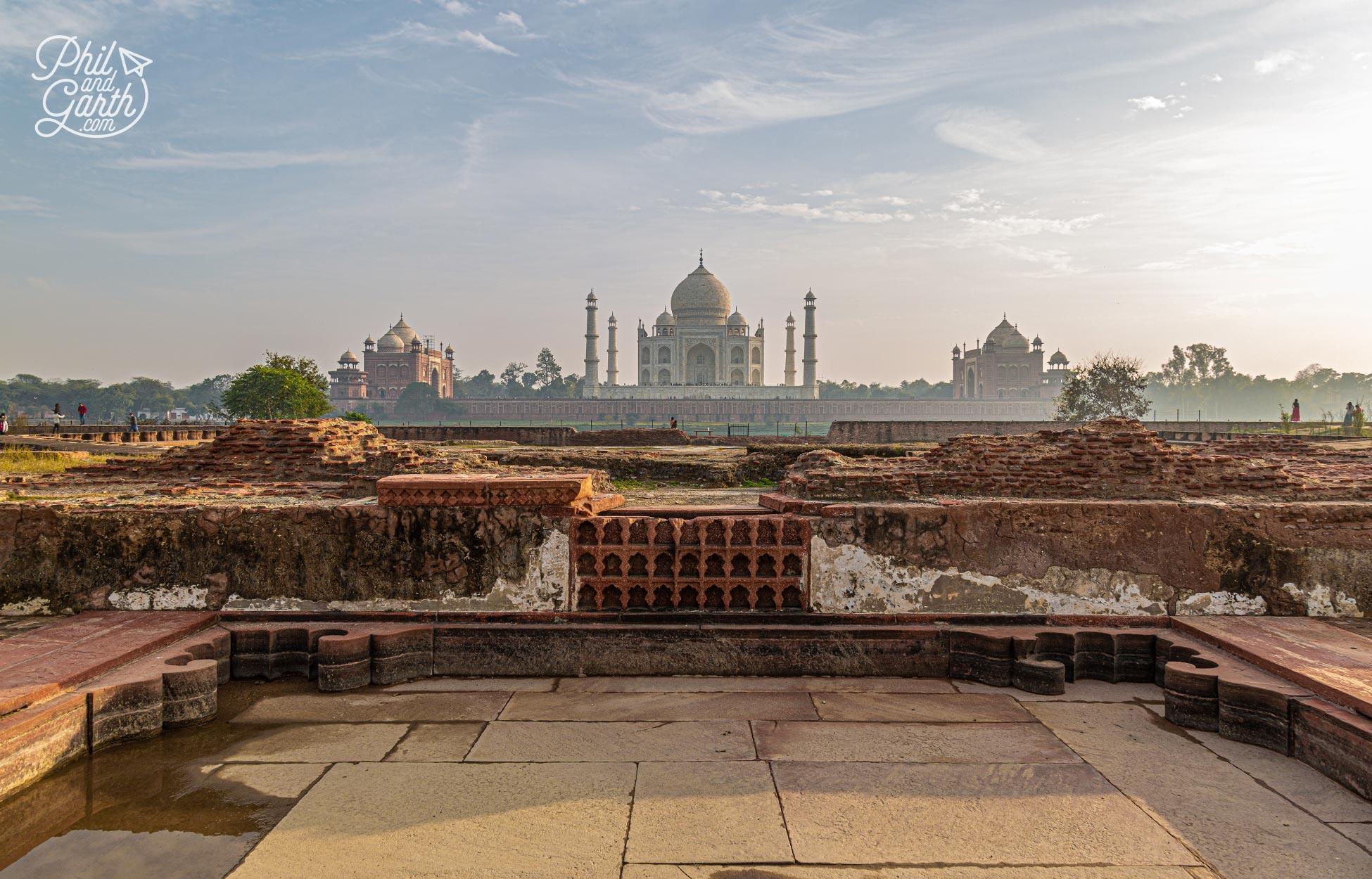 The foundations of theBlack Taj Mahal in Mehtab Bagh