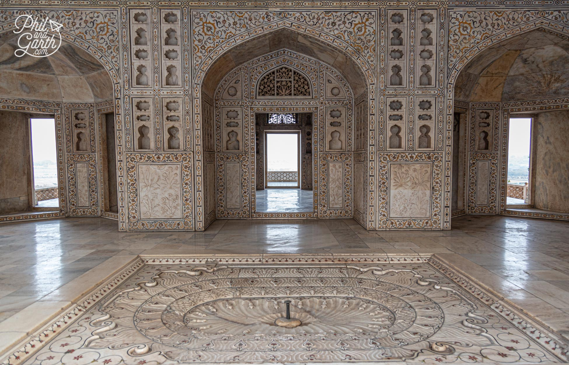 The incredible detail inside the Musamman Burj, part of the Khas Mahal Palace