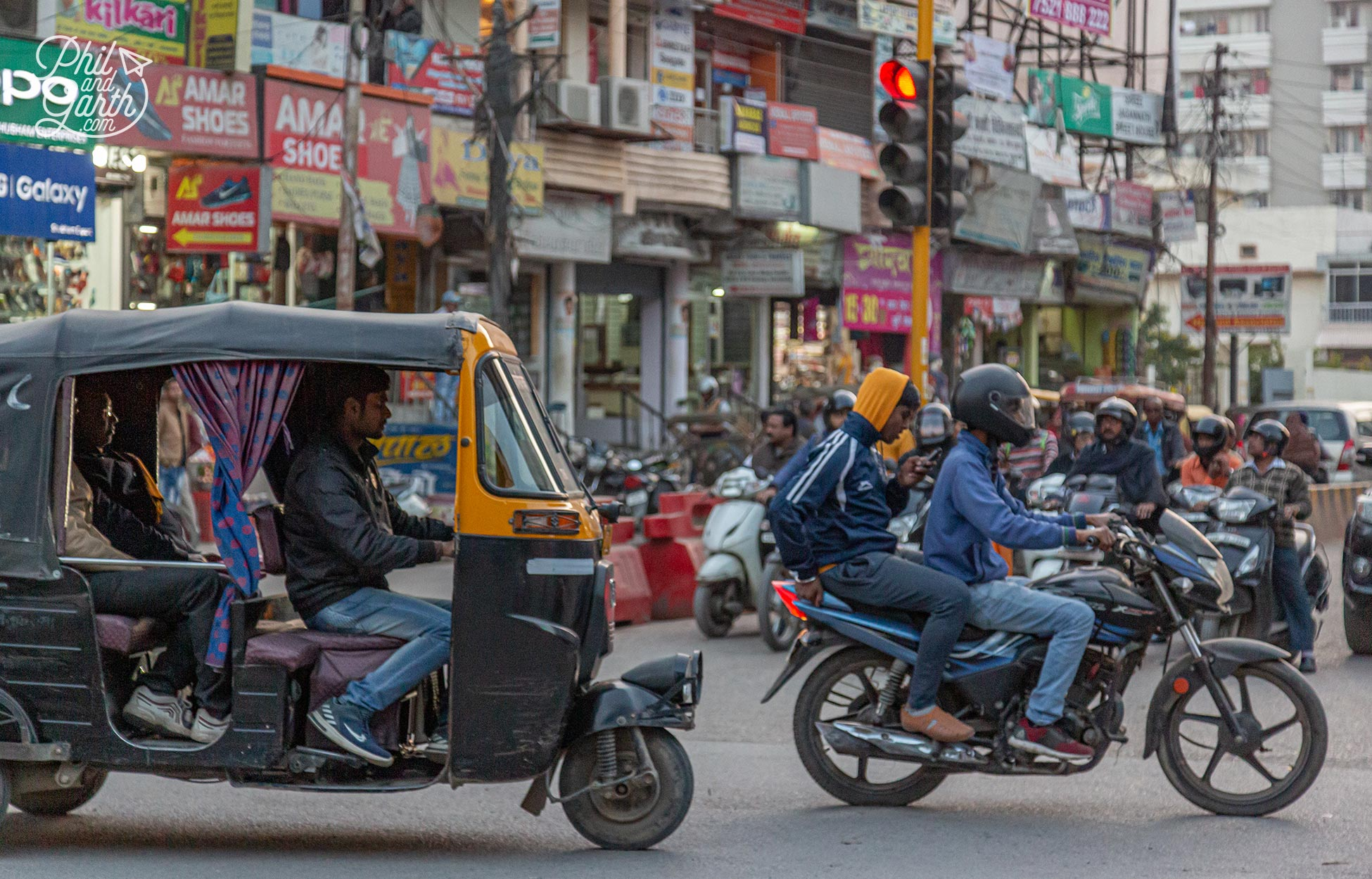 The traffic fumes and pollution were the worst we experienced in India