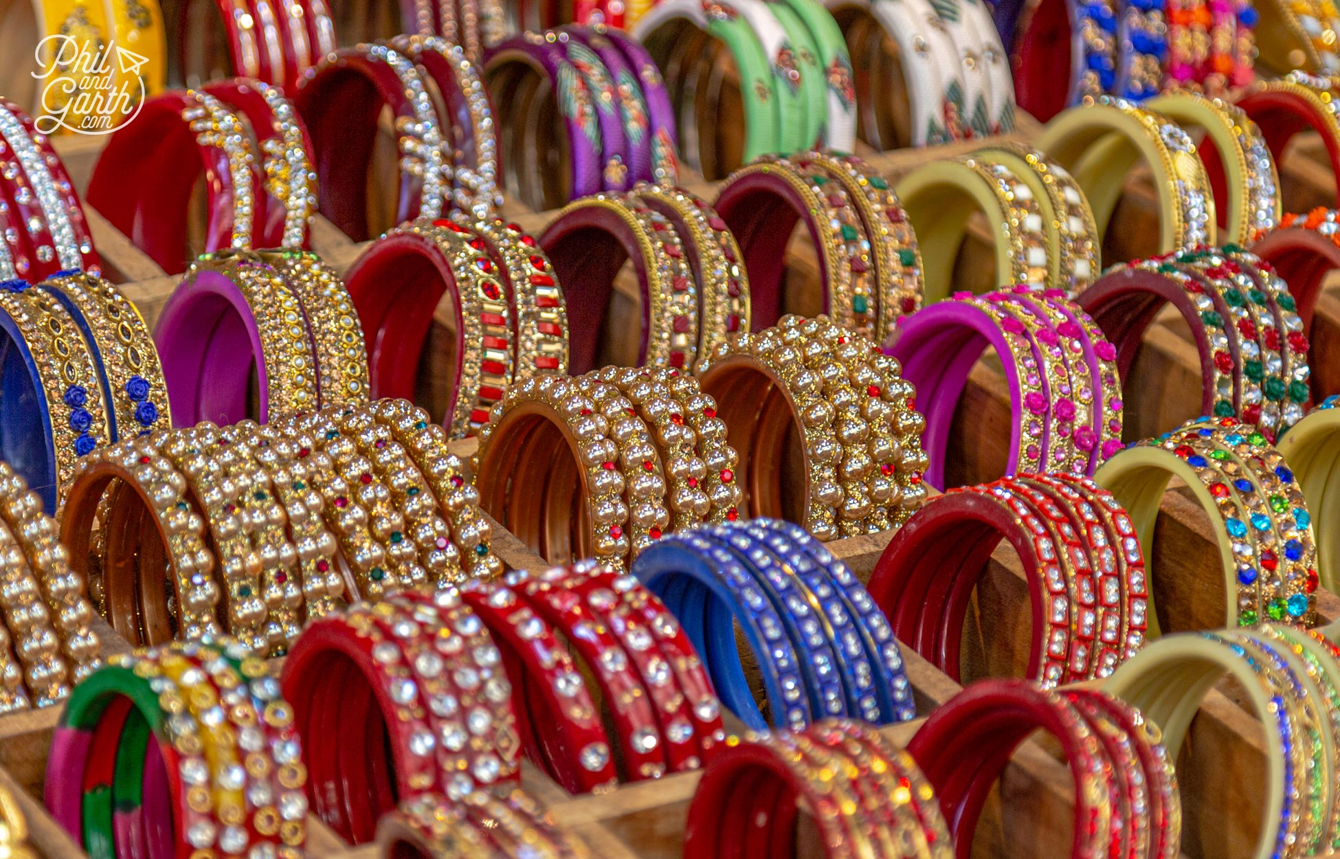 So many colourful bangles for sale in Pushkar's various bazaars