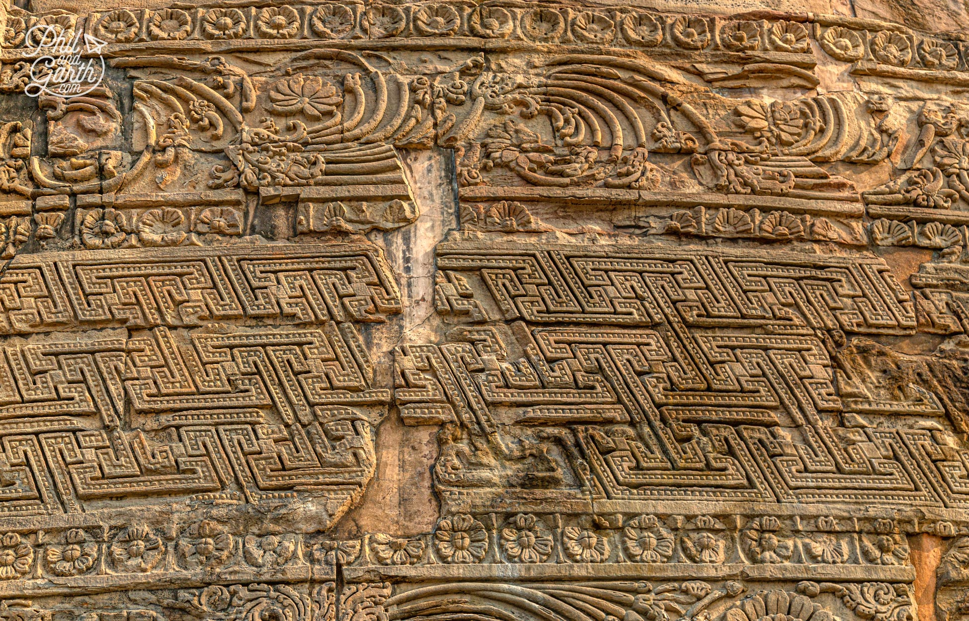 More of the floral and geometricstone carvings