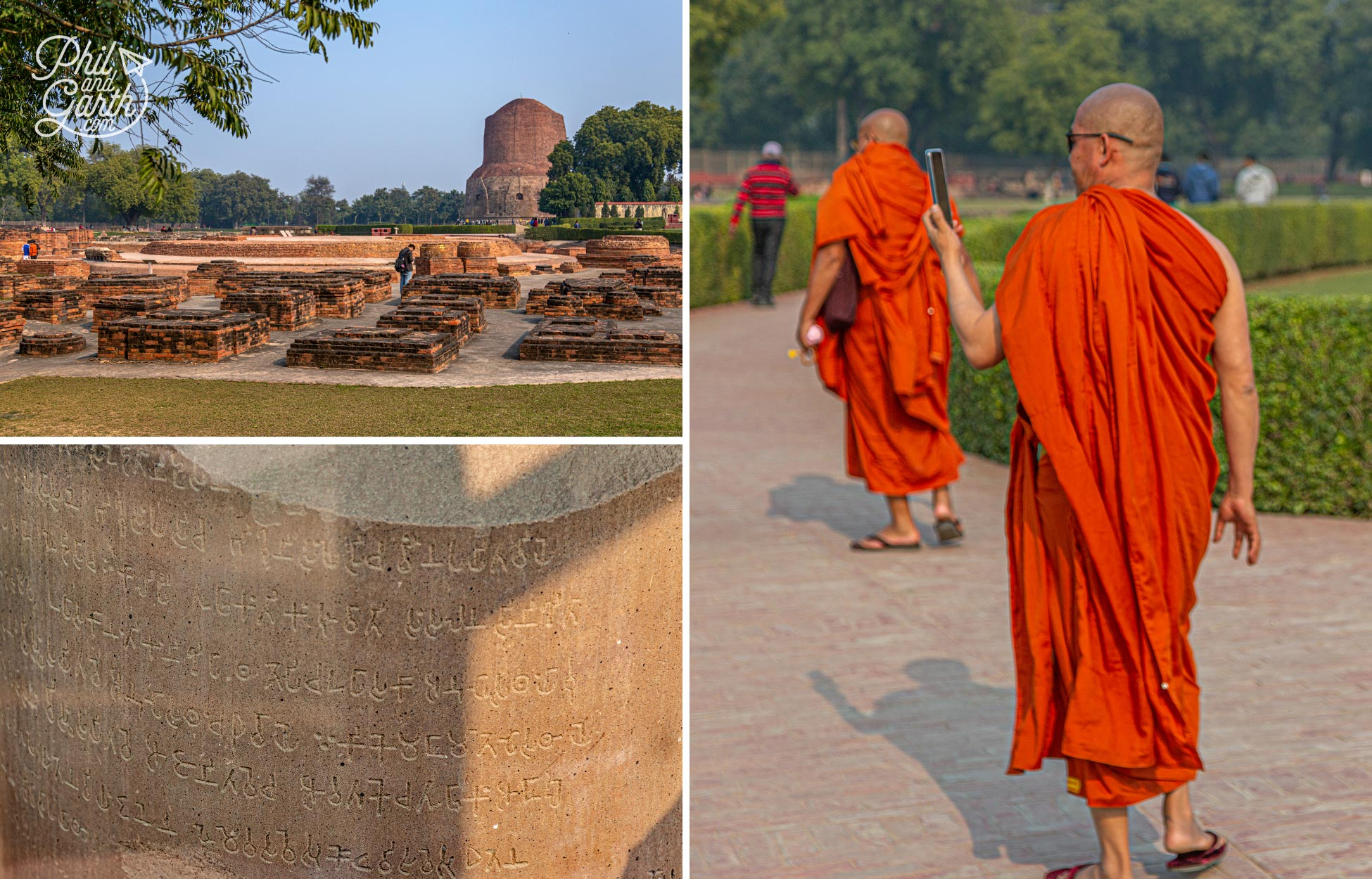 Sarnath isone the world's holiest sites for Buddhists. It's 8miles from Varanasi and takes about 40 minutes to get there