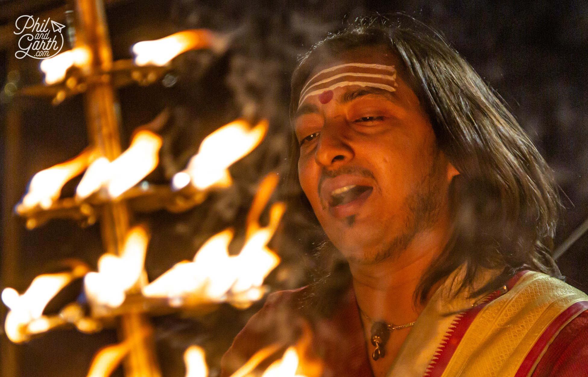 The evening Ganga Aarti ceremony lasts around 45 minutes and is a must see cultural experience of Varanasi