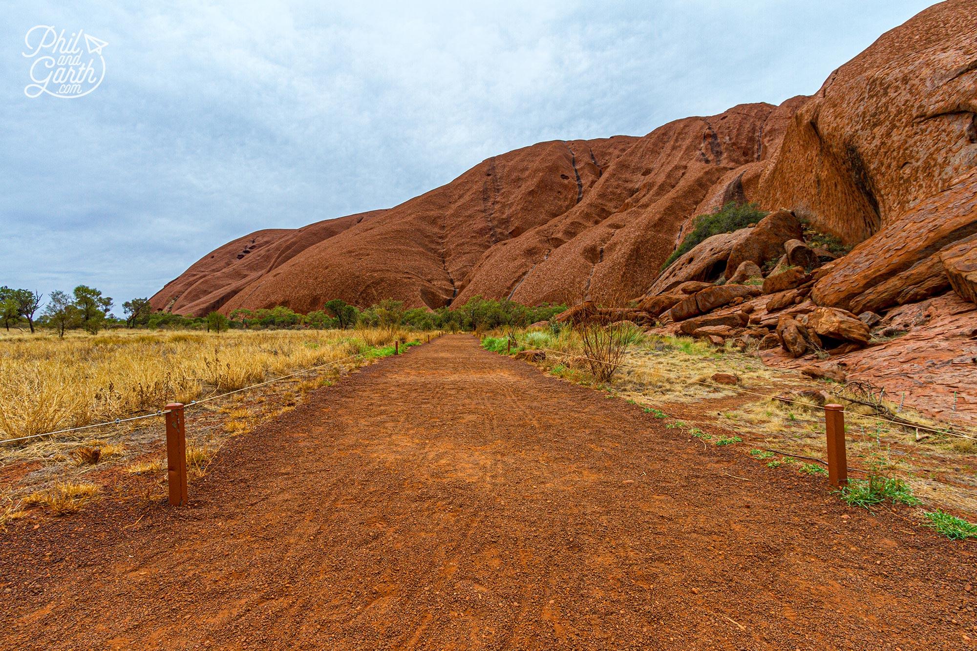 The start of the Uluru base walk