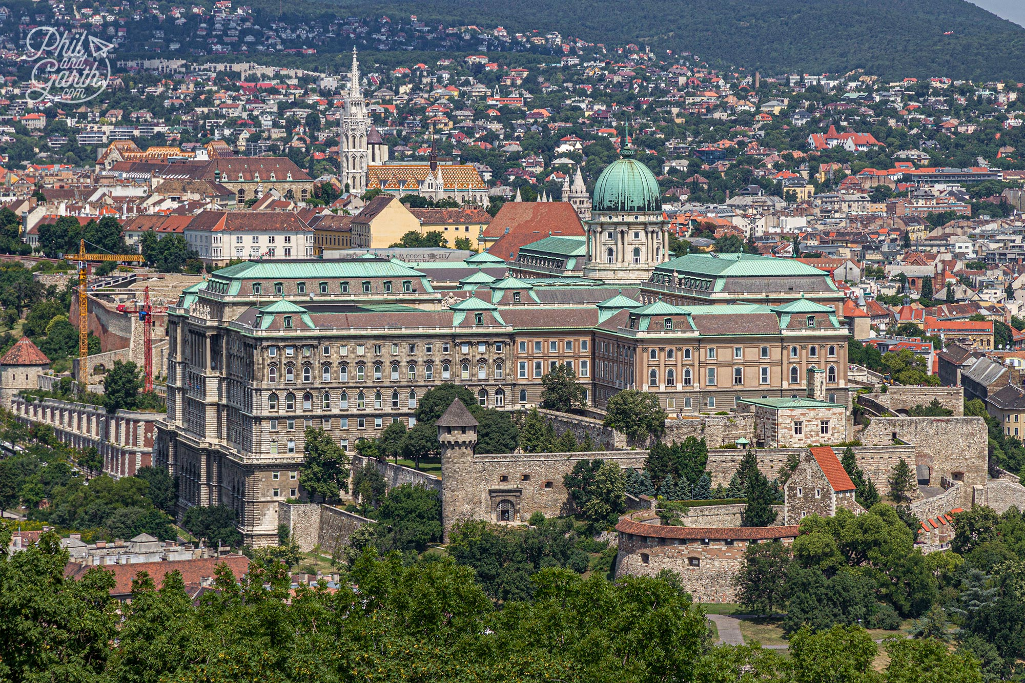 The Buda Castle is a UNESCO World Heritage Site