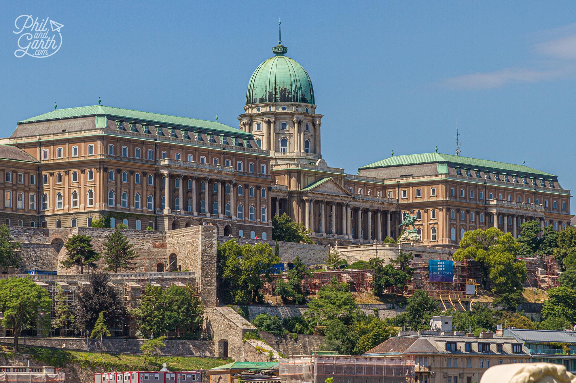 Buda Castle is a castle and palace complex that was home to the Hungarian Kings