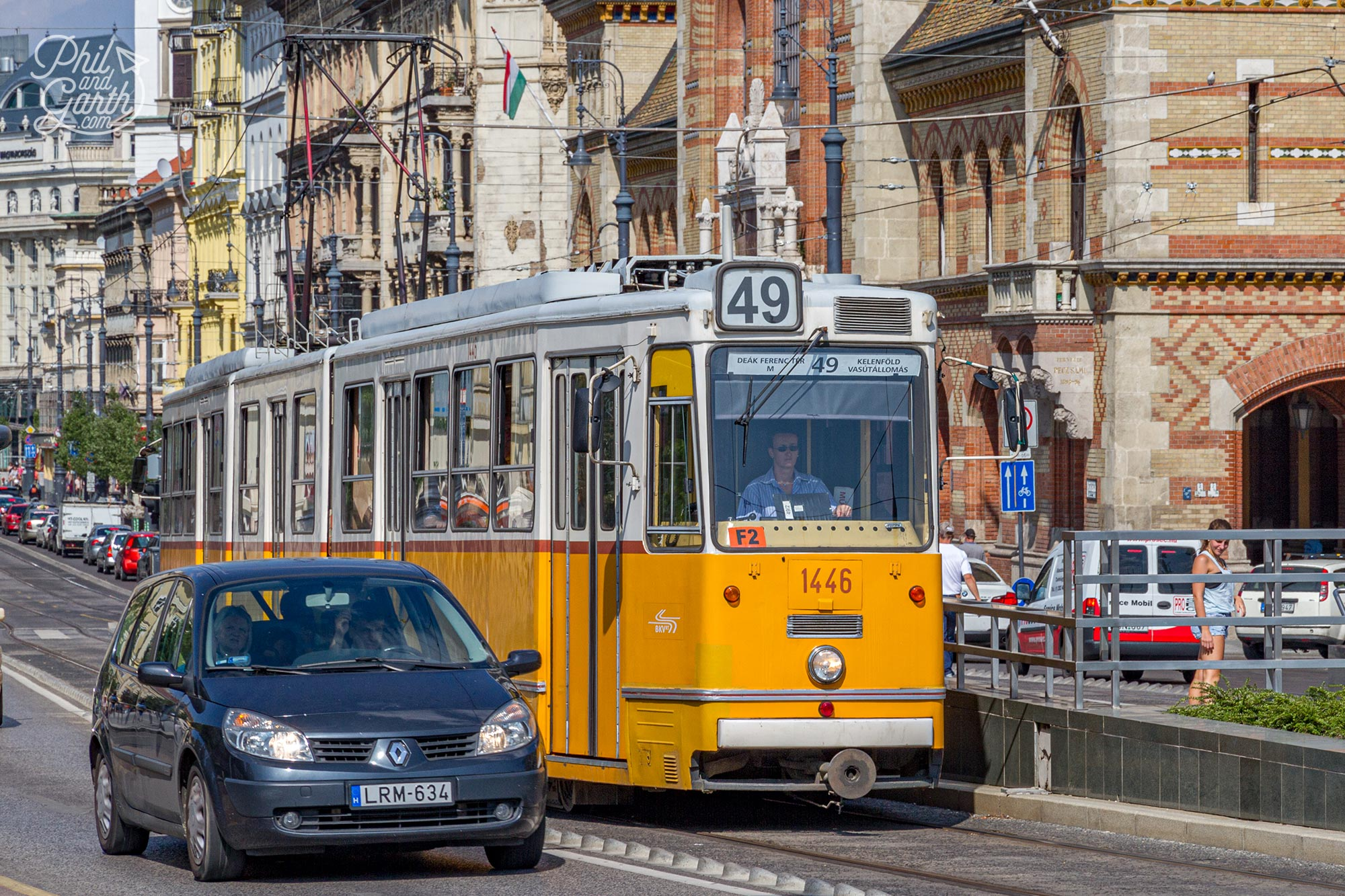 Budapest also has lots of trams to get around the city
