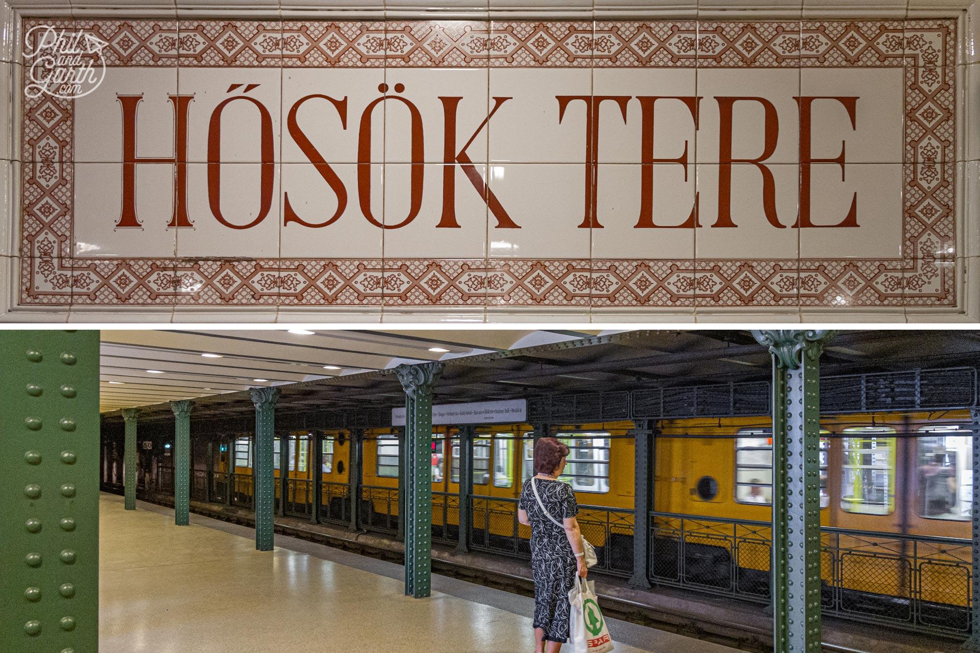 Budapest's Hősök Tere underground Metro station