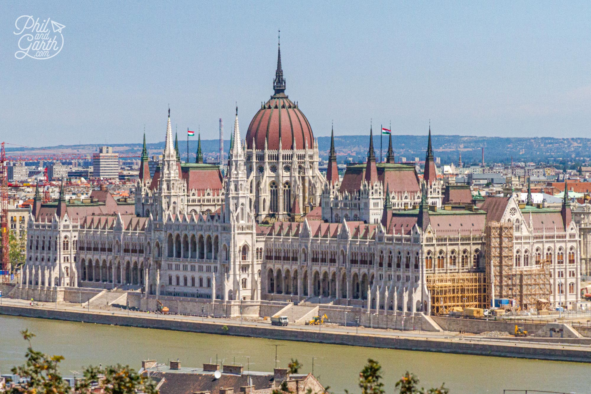 The monumental Hungarian Parliament Building - the 3rd largest parliament building in the world