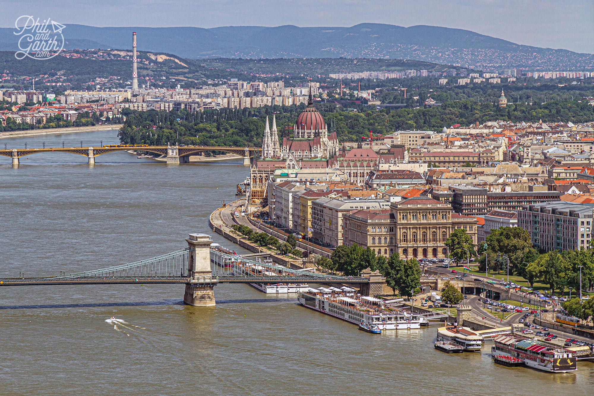 Budapest's two parts of Buda and Pest are joined together by many bridges over the River Danube